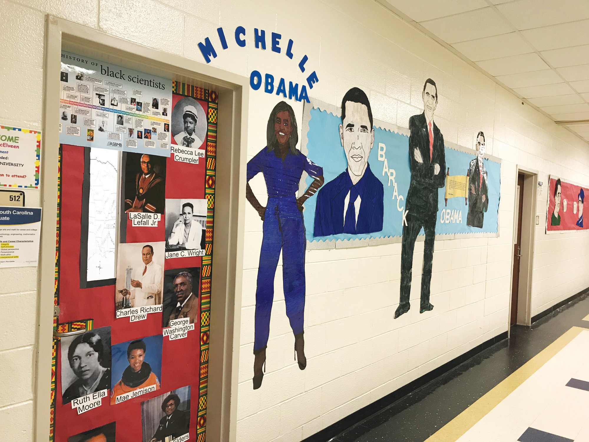 Lee Central Middle School Students Use Art To Learn About Black