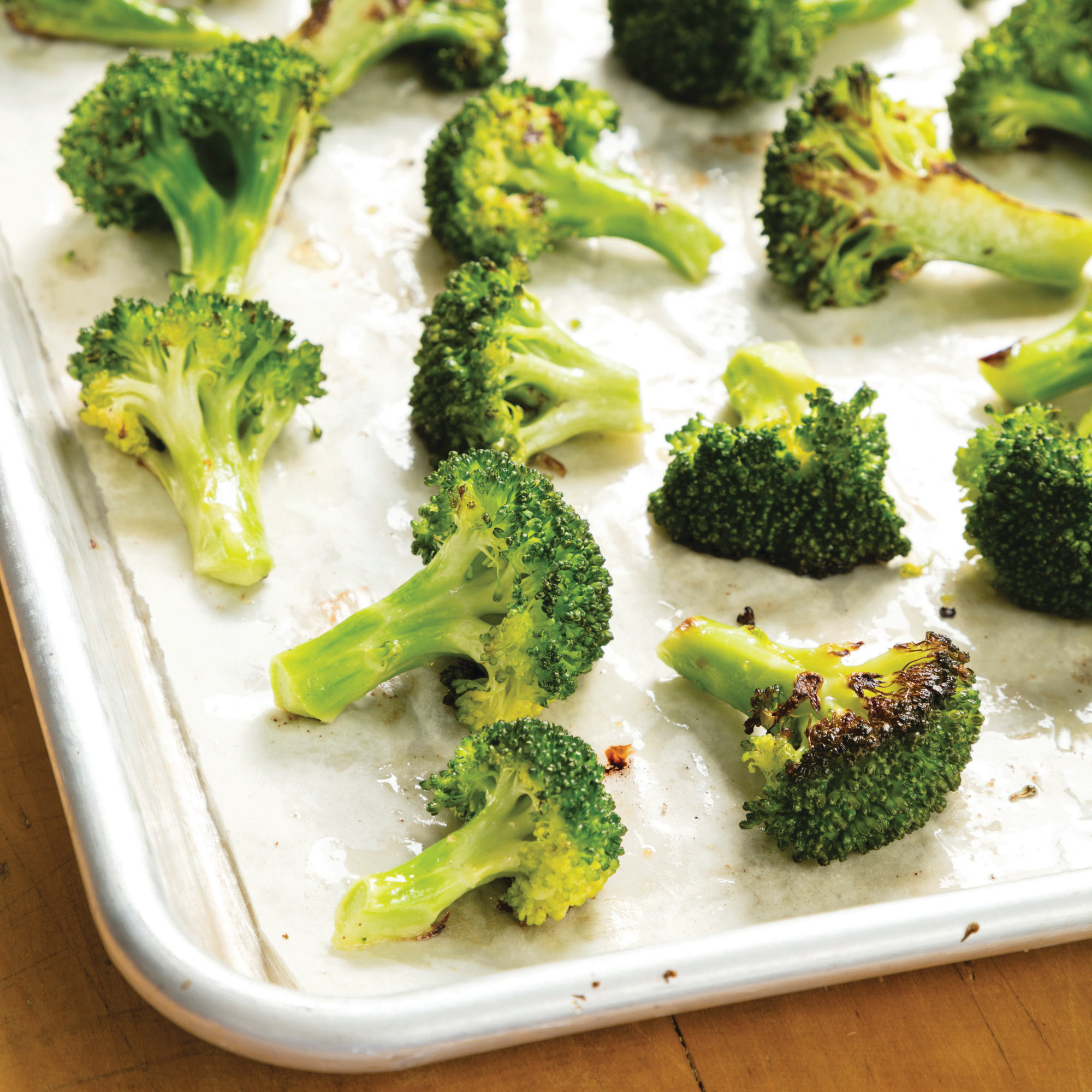"This undated photo provided by America's Test Kitchen in February 2019 shows Roasted Broccoli in Brookline, Mass. This recipe appears in ""The Complete Cookbook for Young Chefs."""