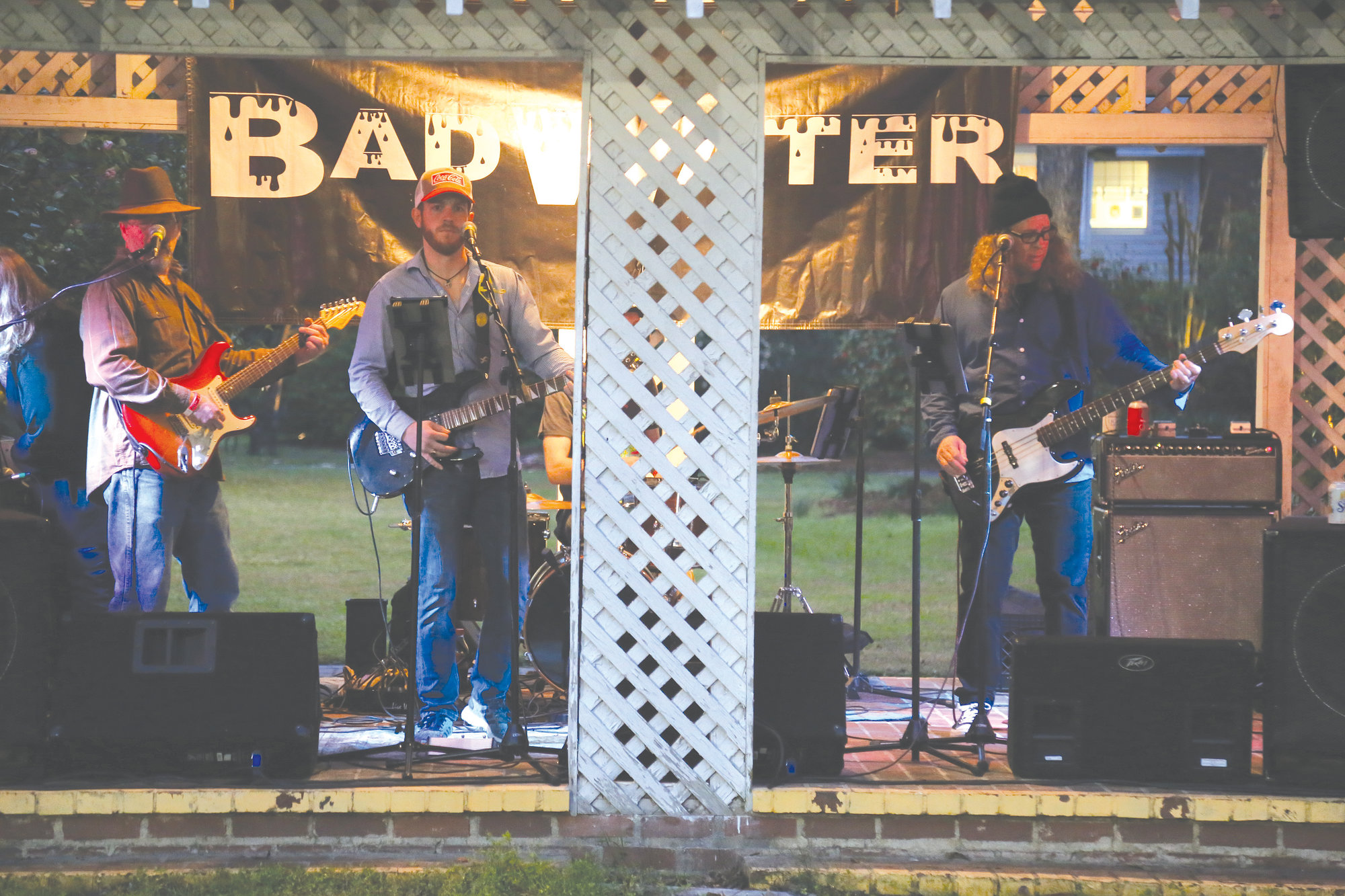 The band Bad Water performs at the YPS Chili Cook Off and Beer Tasting at the Sumter County Museum.