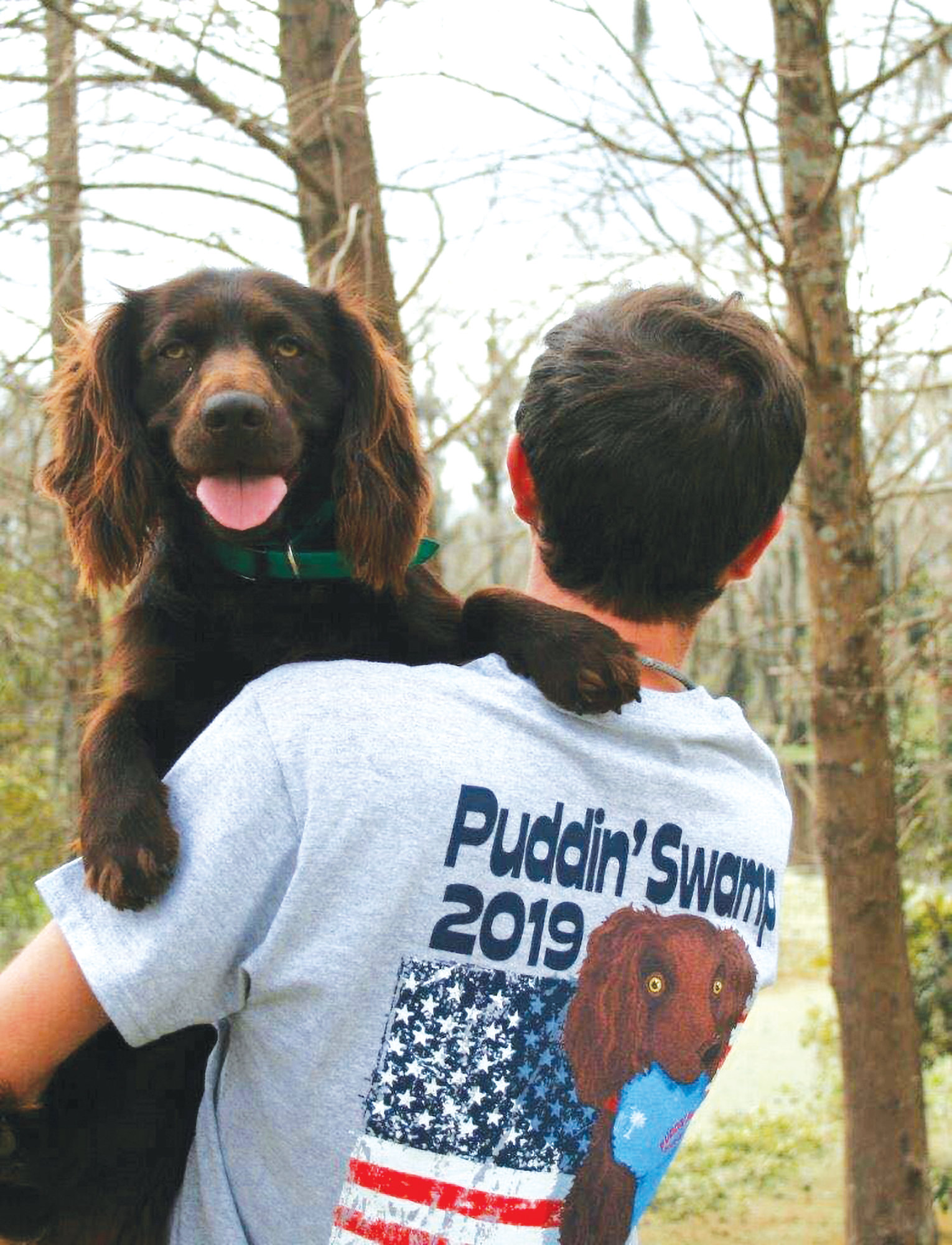The official Puddin' Swamp Festival T-shirt this year features Beau holding a festival hat.    PHOTO PROVIDED