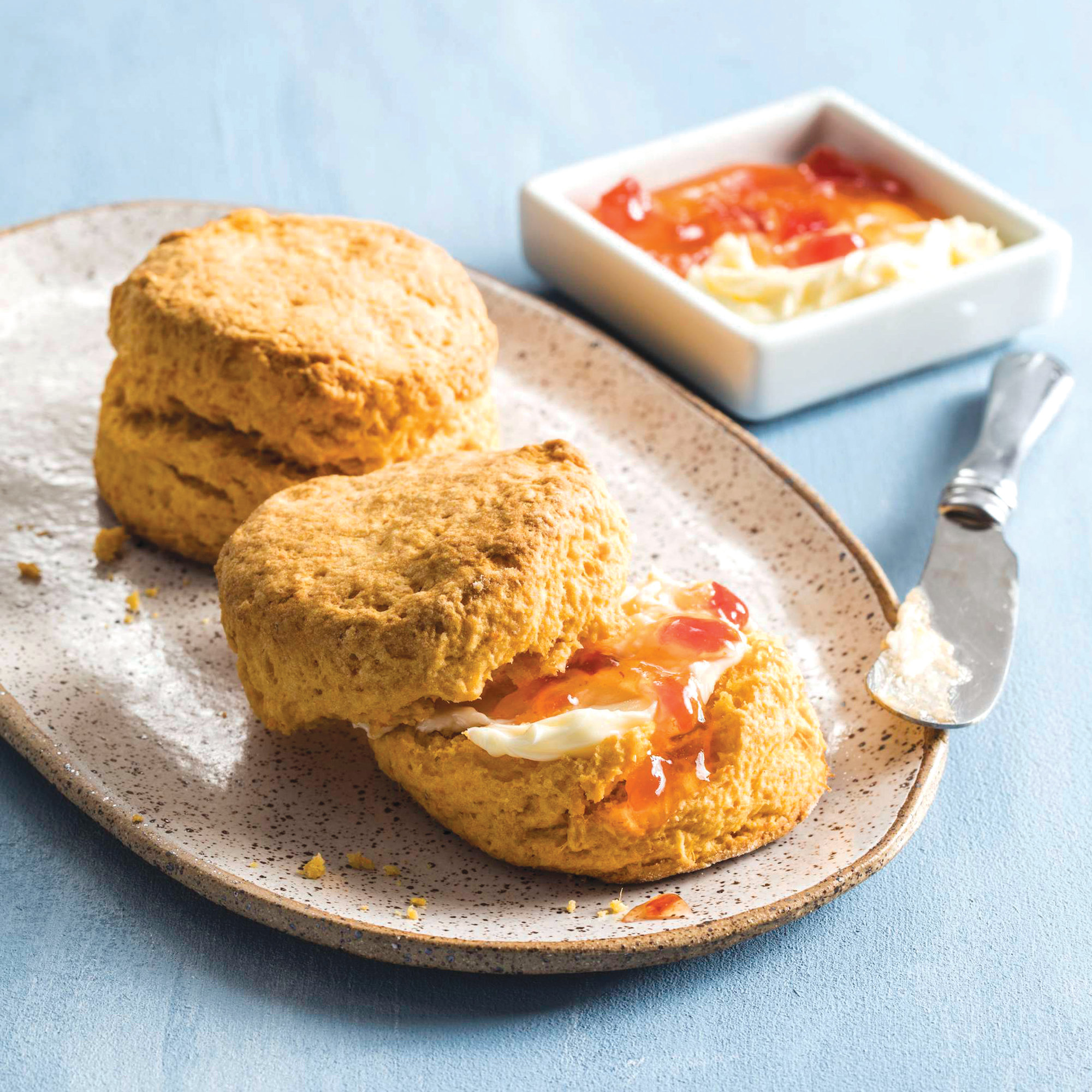 Sweet Potato Biscuits are tender and a bit sweet and perfect with some butter and jam.