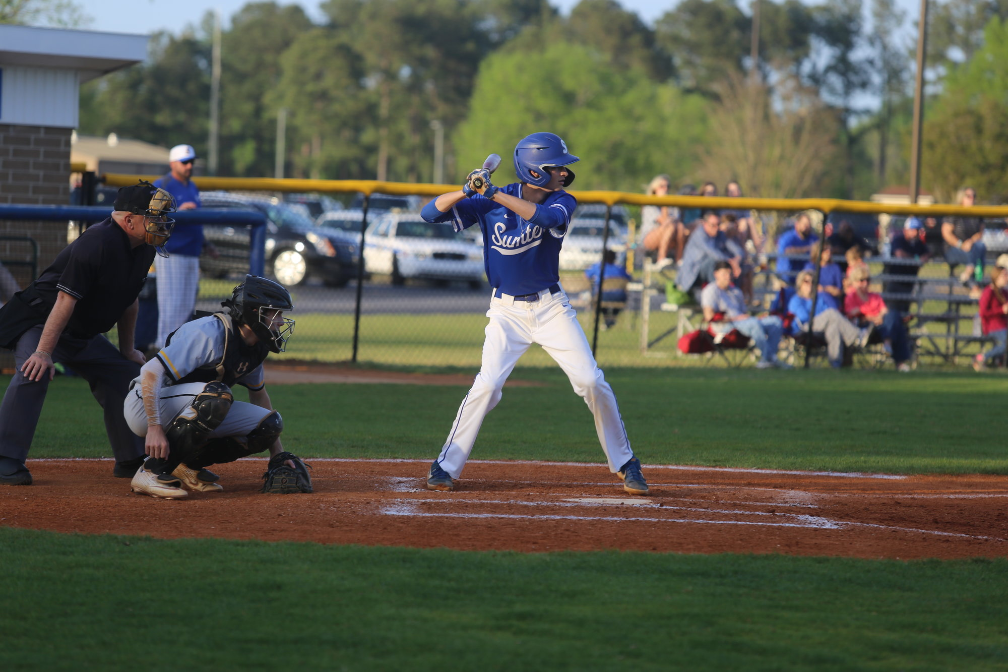 Sumter's Bryce Lyons digs in at the plate.