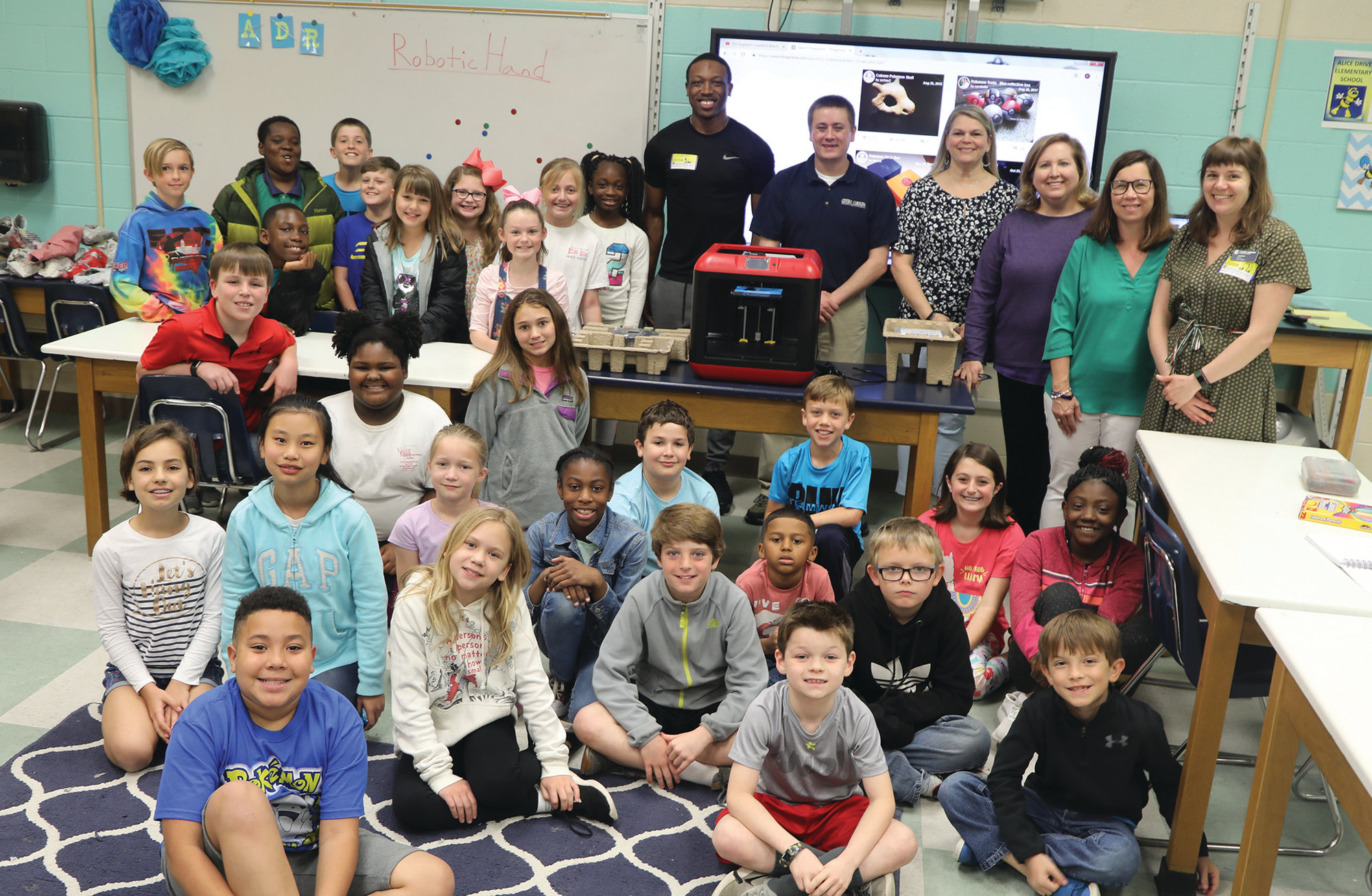 CCTC donated a new 3-D printer to Alice Drive Elementary School's STEM lab on April 8 as part of Partners in Education.