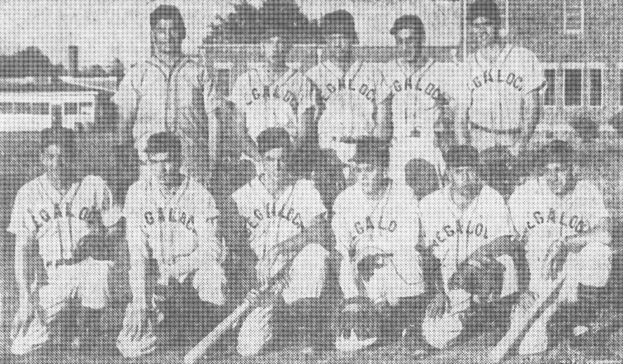 Most of the members of Segalock's Cotton Belt Team, entered in the local Cotton Belt Loop, are seen in 1951. First row, from left, are Early Berry, manager; Bobby Harden; Walter Berry; James Brown; Bill Pack; and Martin Plum, sponsor of the team. Standing from left are Paul Hawkins, Charley Gains, Charlie Mixon, Bill May and Bill Berry.