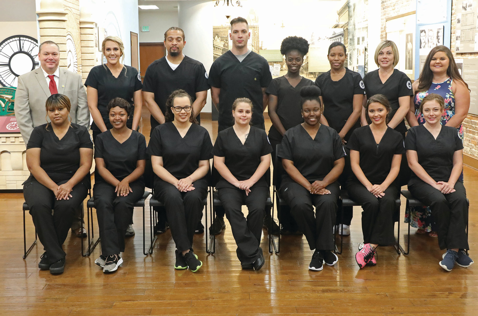 Central Carolina Technical College pins 13 massage therapists at a ceremony held on May 9 at the Sumter Opera House.