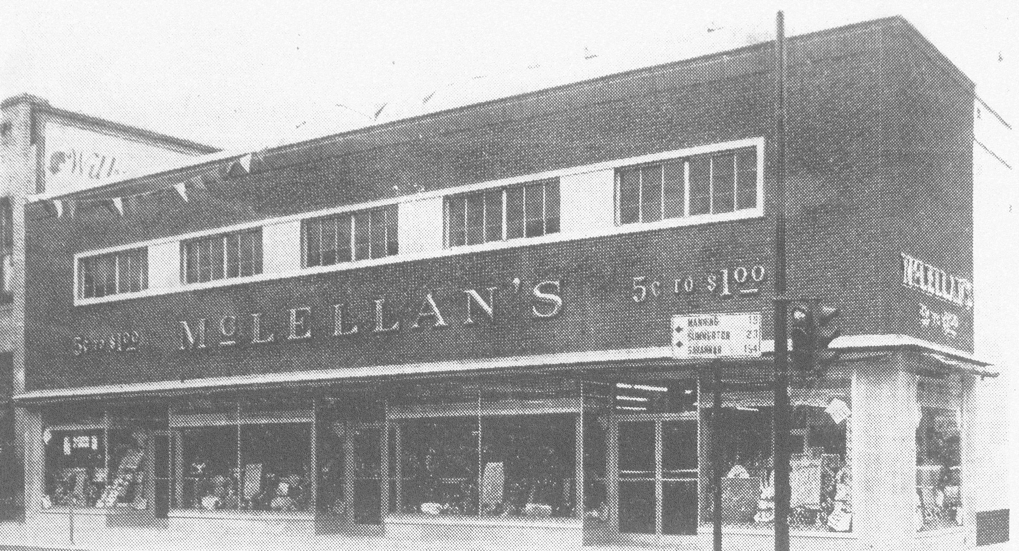 McLellan's 5 cents to $1 store is seen decked out during its grand opening after renovation in 1953. The modern store was completely air conditioned and arranged for customer convenience. Store officials agreed that the opening was one of the best ever in the company's history.