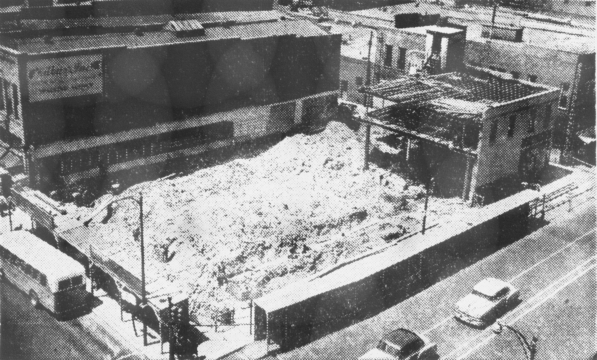 A new, modern retail store was to be built on this site, covered with rubble from wrecking the former McLellan's Store, Fishel's Jewelry Store and Sibert's Drug Store. The two-story building that was scheduled to be completed in early fall 1953 was to be of brick, steel and concrete construction. The first floor was to be used for the retail business, and upstairs was to be for storage and offices. McLellan's was temporarily located at 146 S. Main St. while construction was in progress.