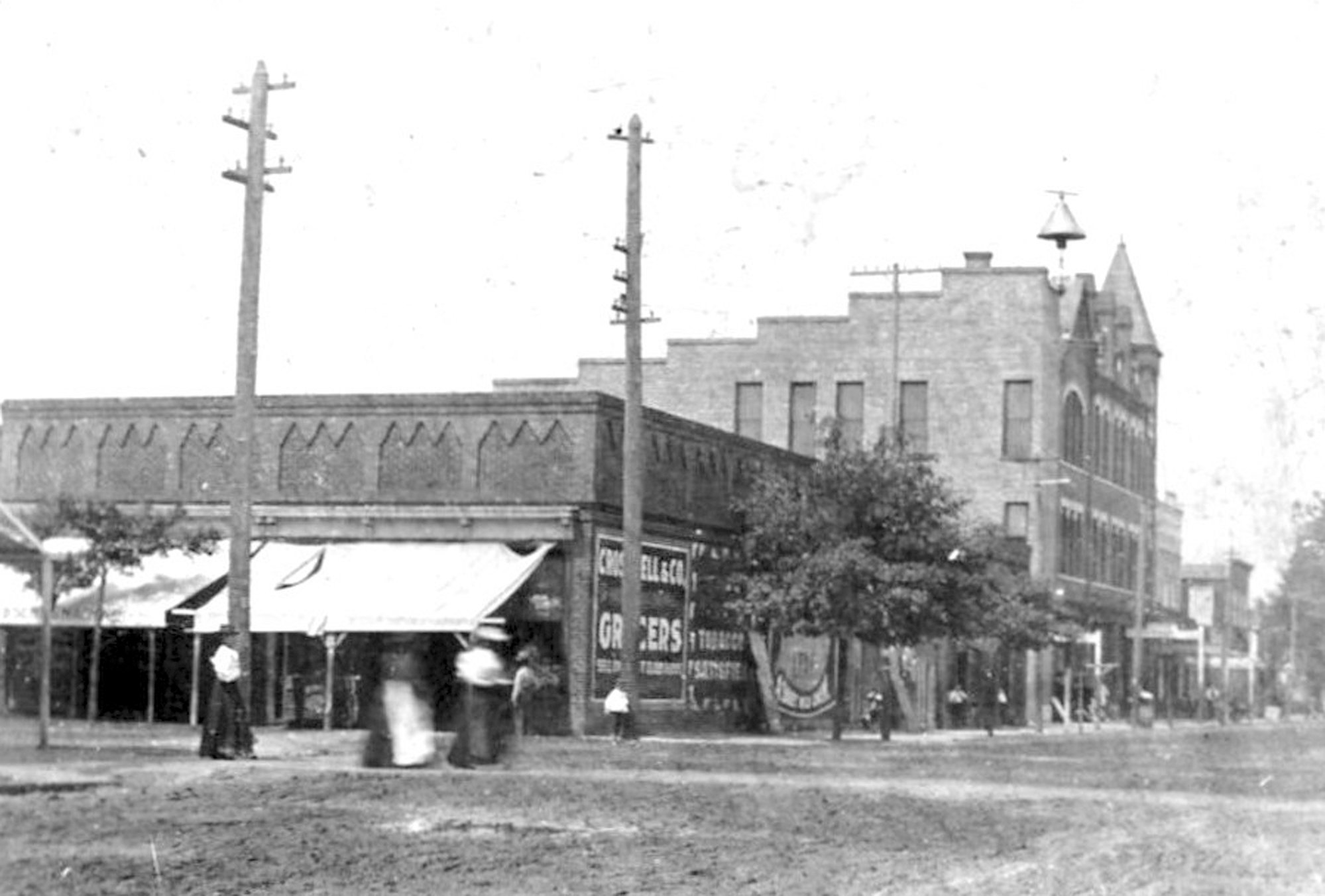 The building owned by James Barrett was acquired by McLellan's in 1916 and is seen here shortly after the turn of the century.