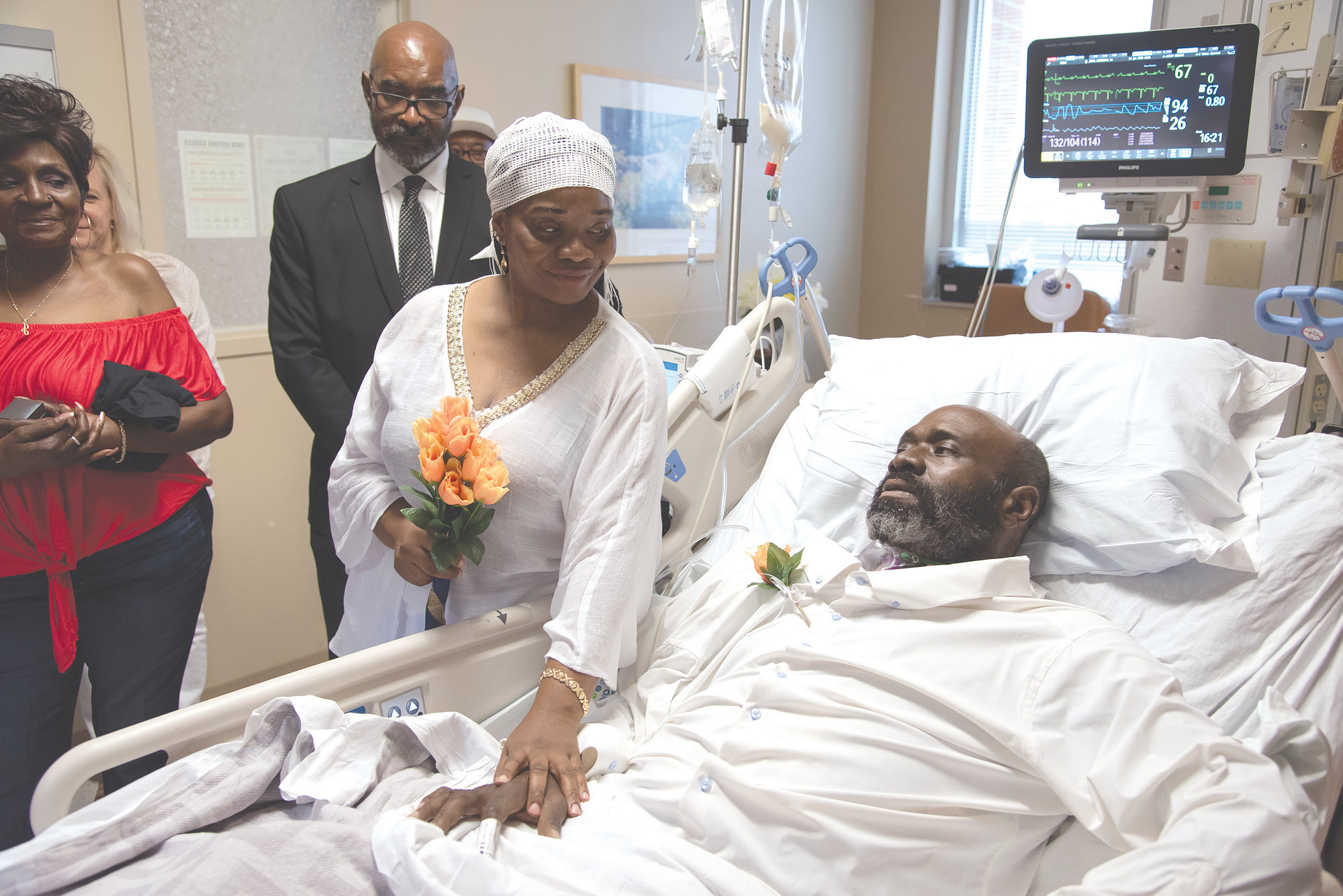 Marshal Maurice John and Erica Brooks were married recently in Prisma Health Tuomey Hospital's ICU.