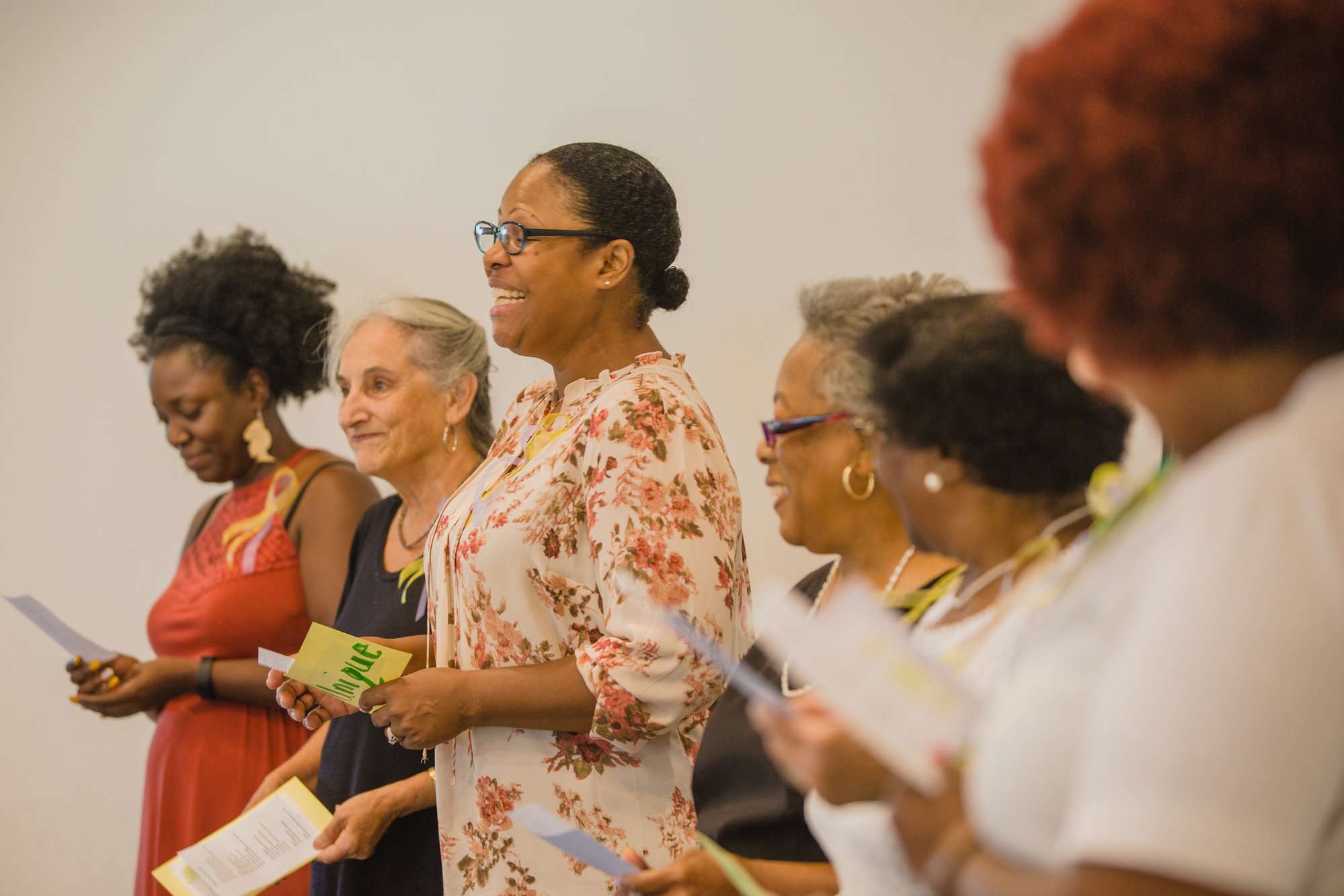 "Mothers of Angels members sing ""Won't Let You Fall"" during their annual luncheon at Wise Drive Baptist Church."