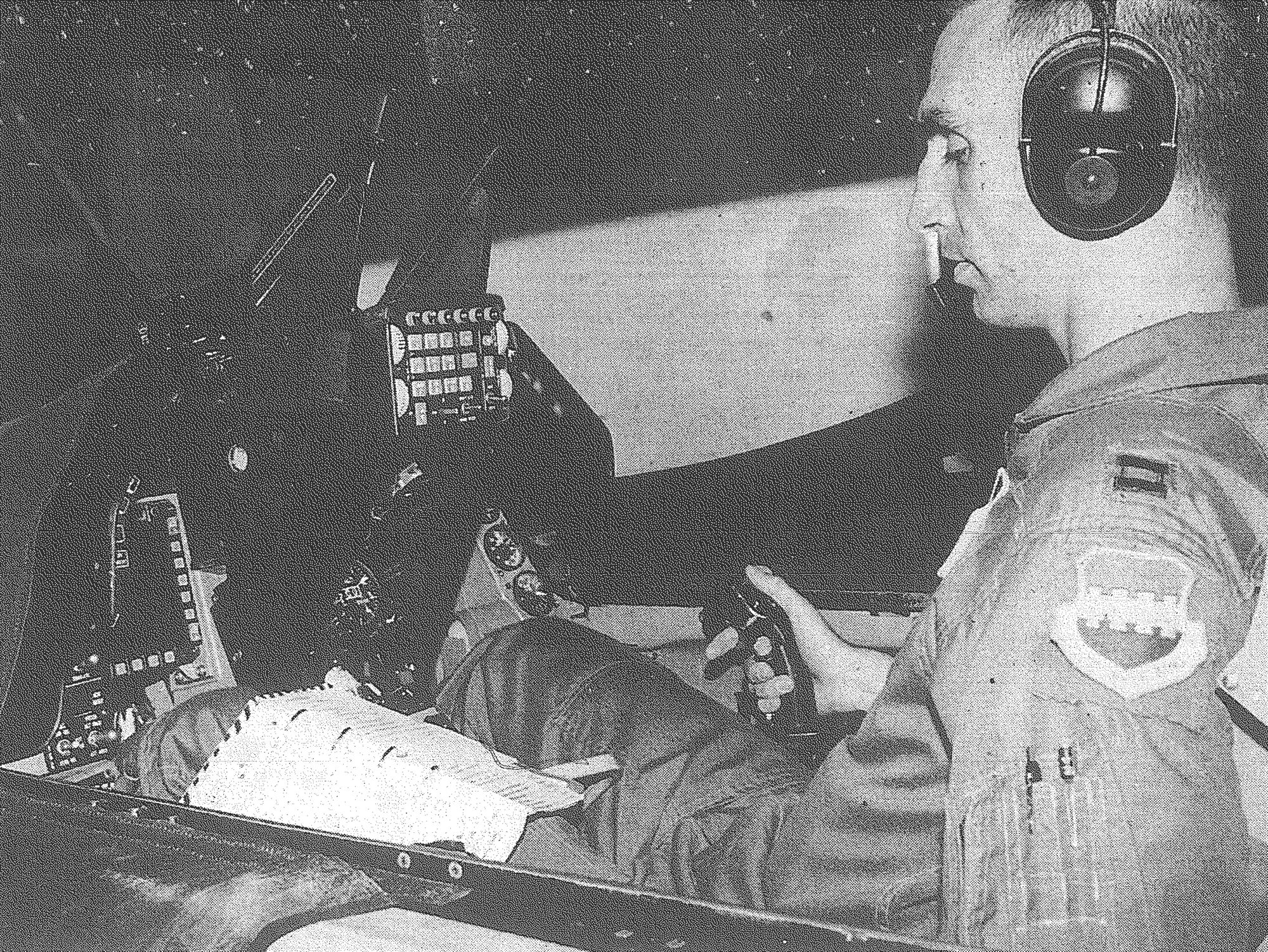 1994 - Capt. Scott Zobrist prepares for a simulator flight at Shaw Air Force Base on July 21, 1994. The simulator is used to help pilots train for emergency situations, practice tactics and do instrument flying, such as they would in bad weather. Maj. Gen. Zobrist officially retired June 13, 2019, from a three-decade military career and passed command of the 9th Air Force to Gen. Chad Franks at an official change of command ceremony. Zobrist and his wife will retire in Sumter.