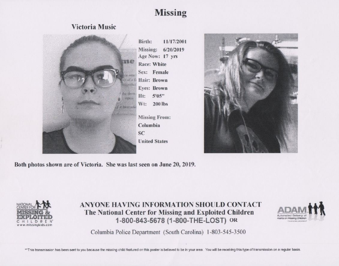 Columbia police think missing teen may be in, around Sumter