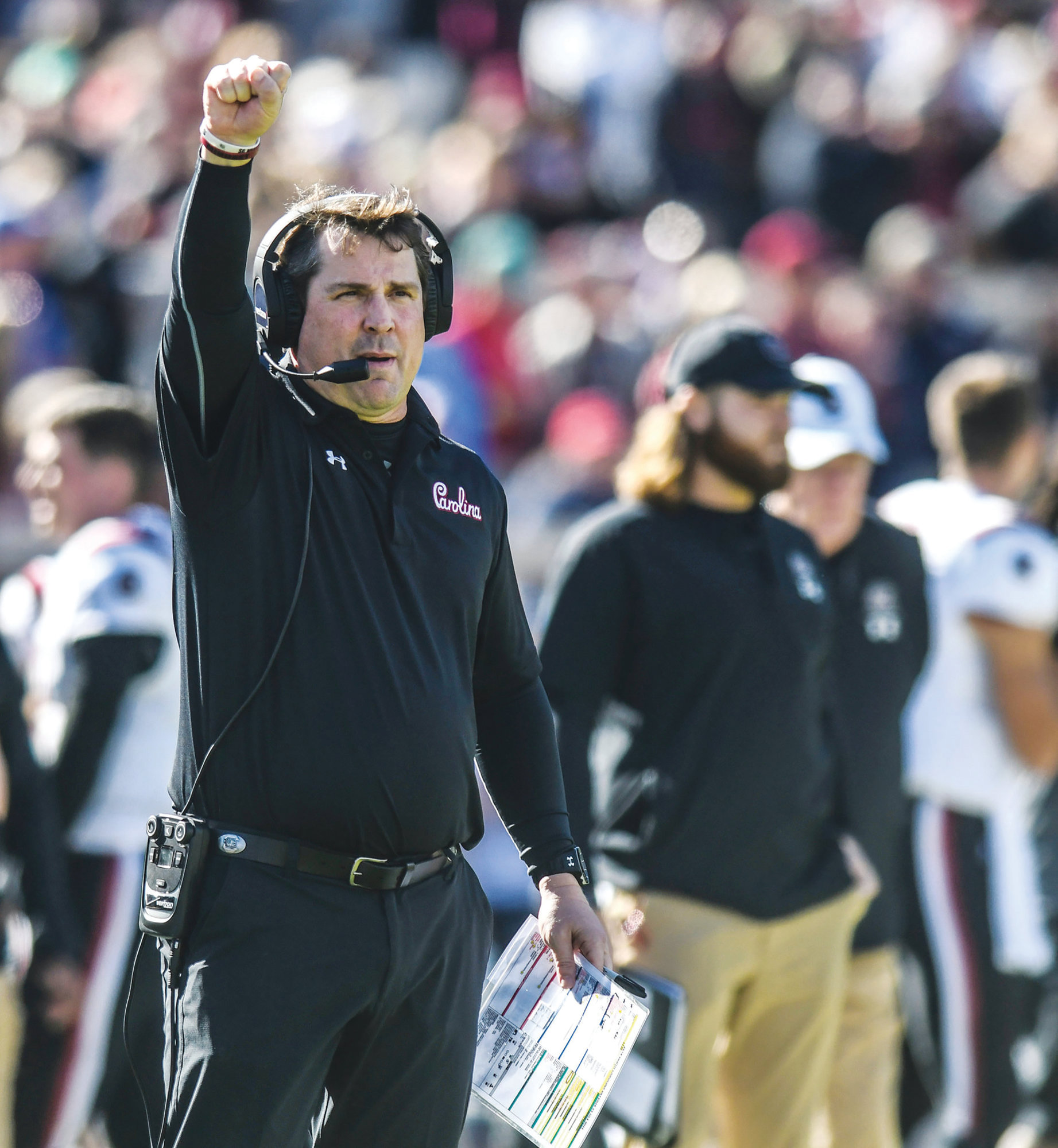 South Carolina head coach Will Muschamp knows he has a team that has plenty of questions to answer heading into the 2019 season.