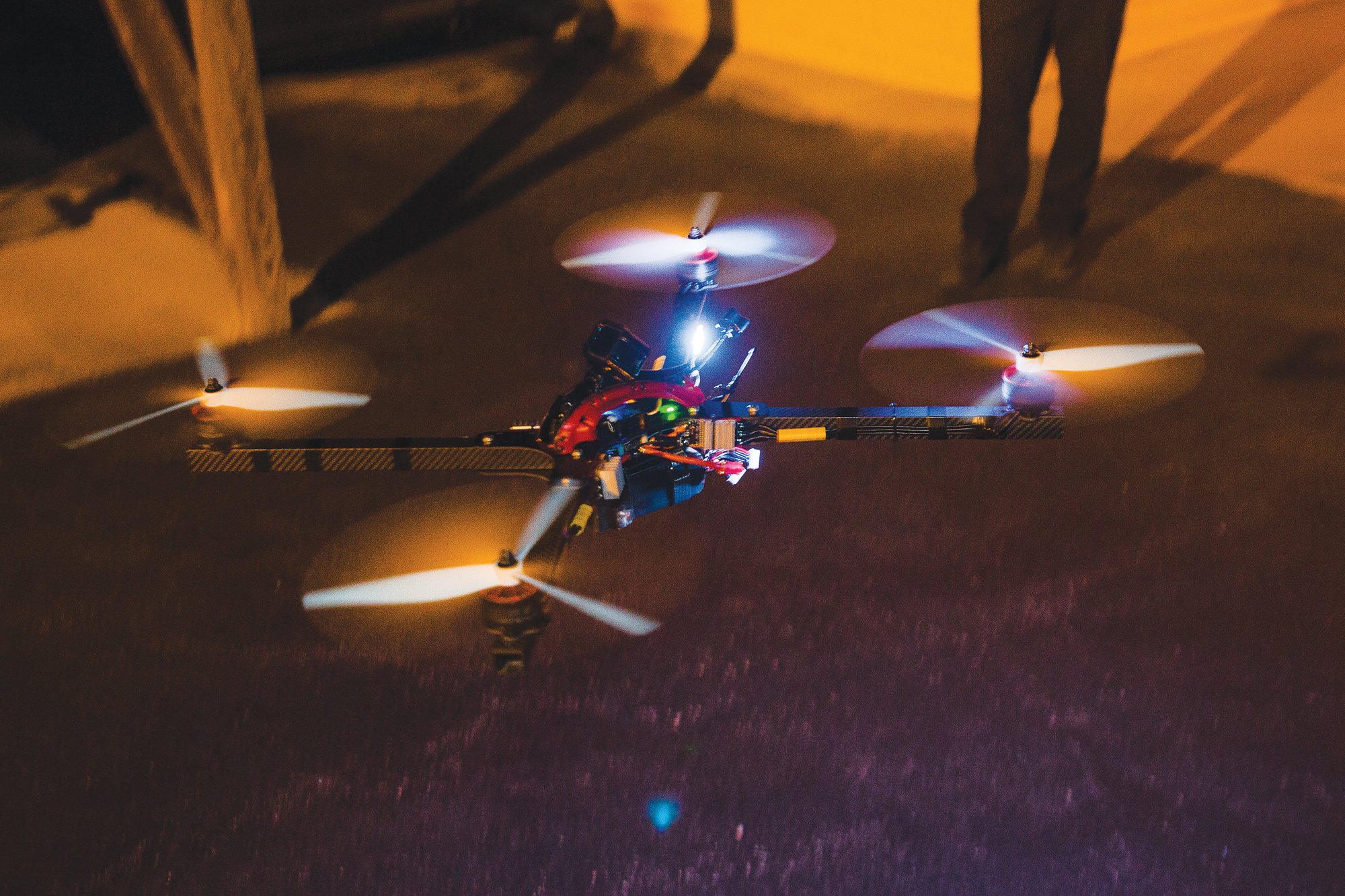 Matthew Tickel flys his racing drone outside his home in Sumter County in the days before leaving for South Korea to compete.