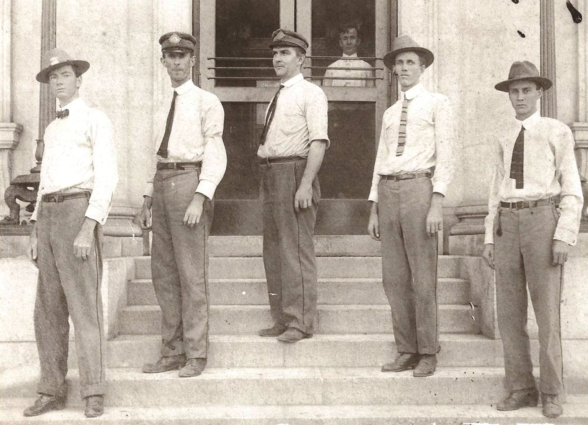Sumter post office employees stand in front of one of the office's many locations through the years.