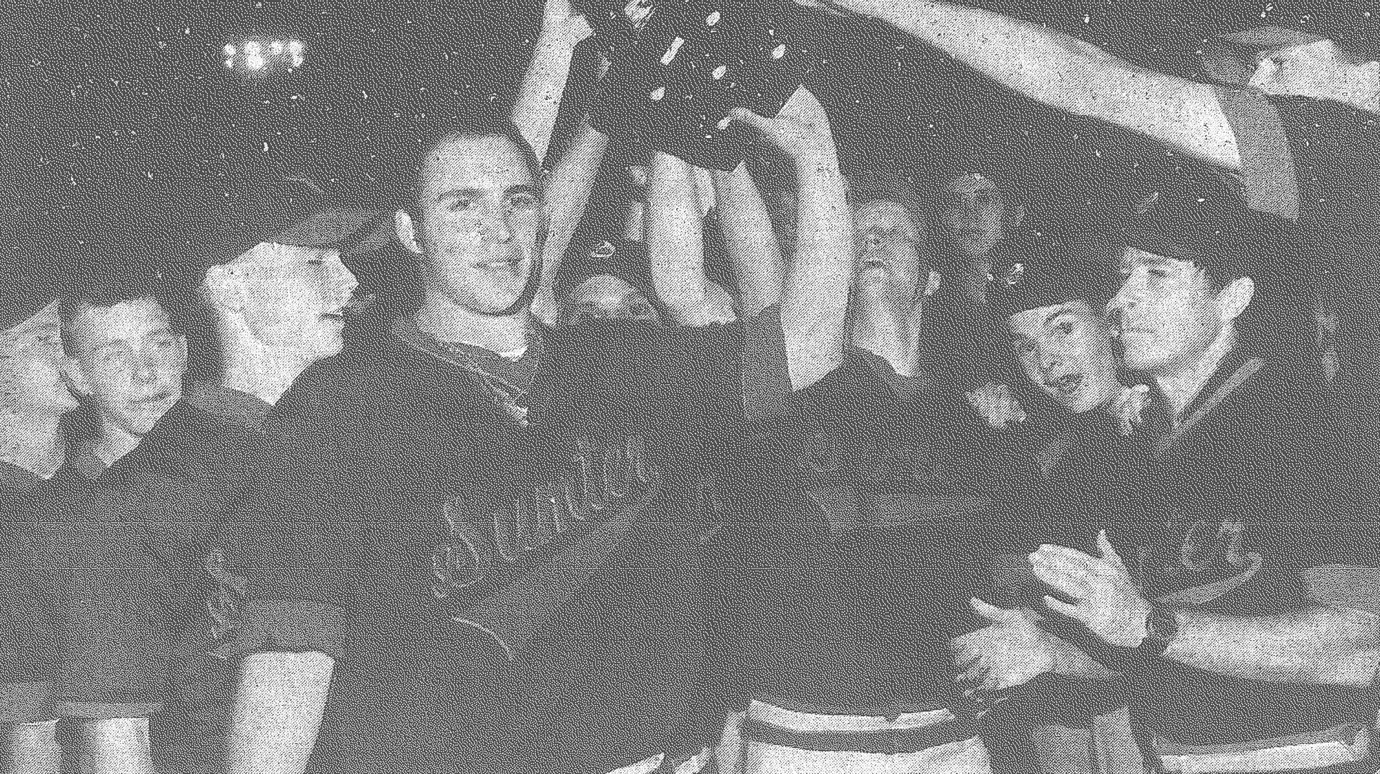 Aug. 14, 1994 - Sumter's P-15's hold their trophy aloft after claiming their fourth-consecutive American Legion baseball state championship with a 3-2 win over Irmo at Riley Park on Aug. 7. The P-15's were to open play in the Southeast Regional at Gainesville, Florida, on Aug. 19.