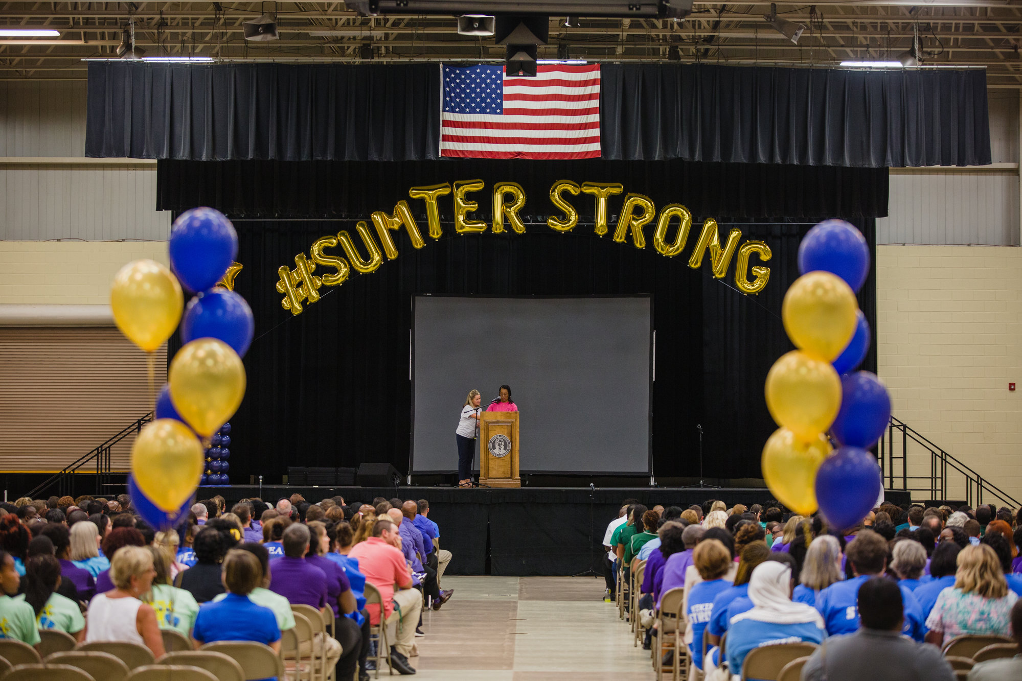 Sumter School District staff celebrates #SumterStrong.