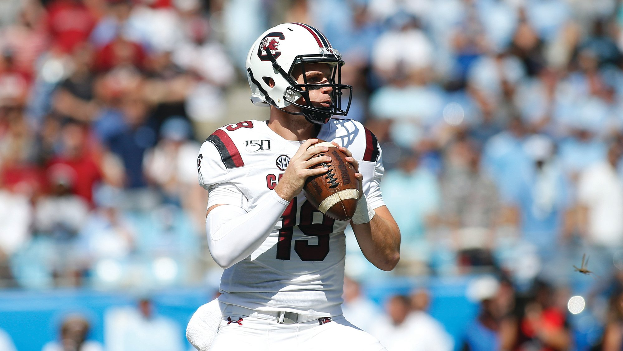 THE ASSOCIATED PRESS  South Carolina quarterback Jake Bentley hurt his foot on the final play of the Gamecocks' 24-20 loss to North Carolina on Saturday. Ryan Hilinski will start behind center on Saturday against Charleston Southern.