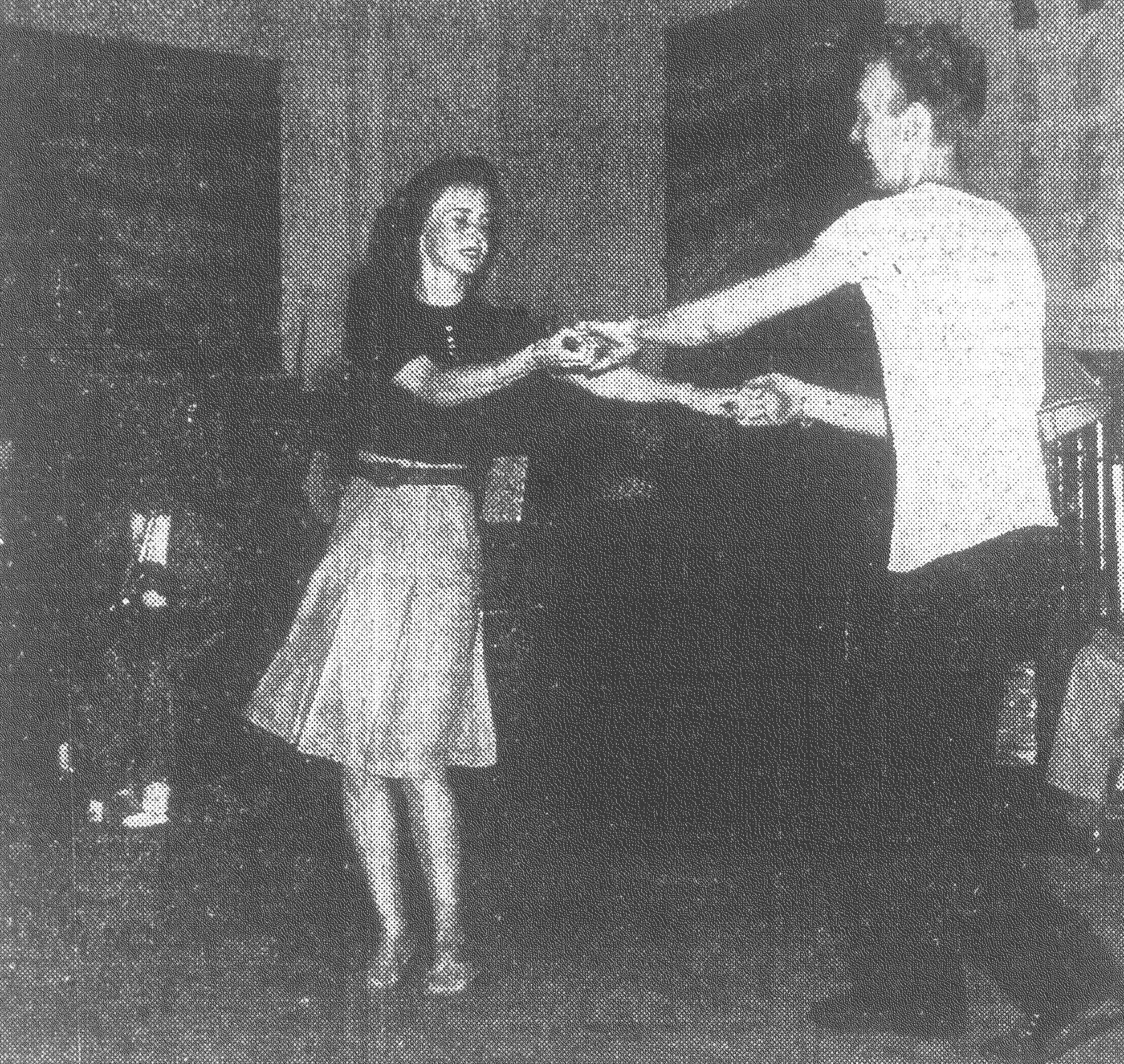 Jenkins Center members enjoy the Easter Dance in April 1946. Jitterbug contests were a main feature of the evening.