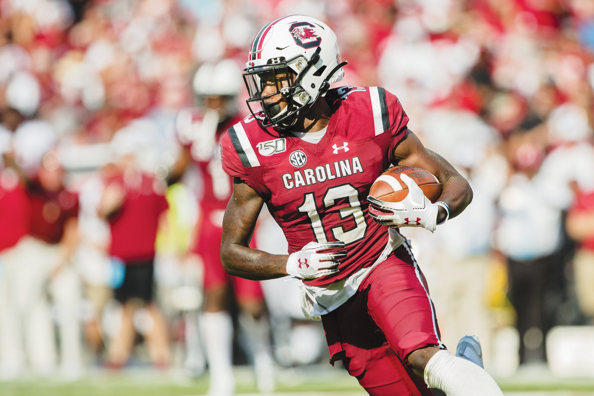 MICAH GREEN / THE SUMTER ITEM  South Carolina wide receiver Shi Smith and his Gamecock teammates are looking to get back on track when they play host to Kentucky in an SEC matchup on Saturday at Williams-Brice Stadium.