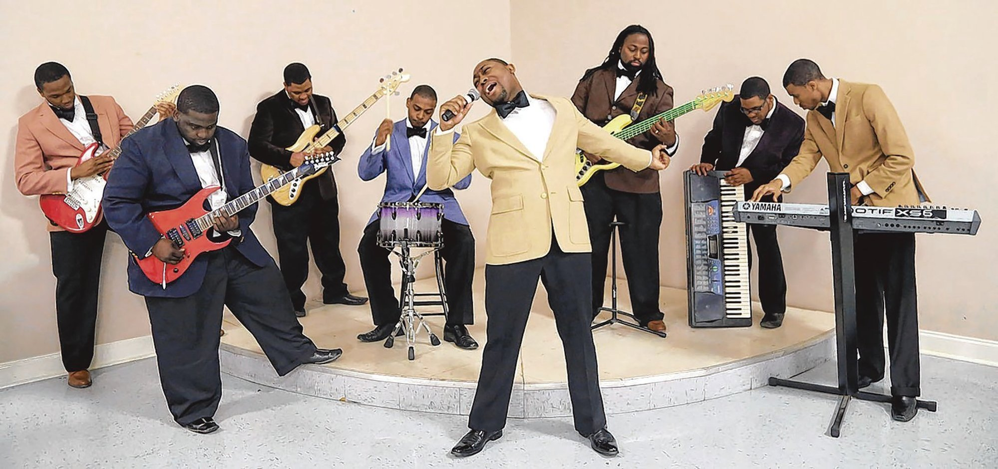 PHOTO PROVIDED  Elijah Bradford and the Valentinos seek fans' votes to become the opening act for gospel singer JJ Hairston at the S.C. State Fair.