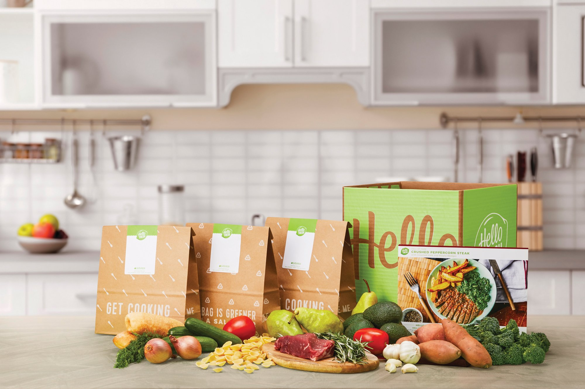 HelloFresh via AP  Seen are HelloFresh ingredients offered from its home delivery meal kits. The growing options for outsourcing meal planning, grocery shopping and cooking can be called time-saving blessings or culture-destroying curses.