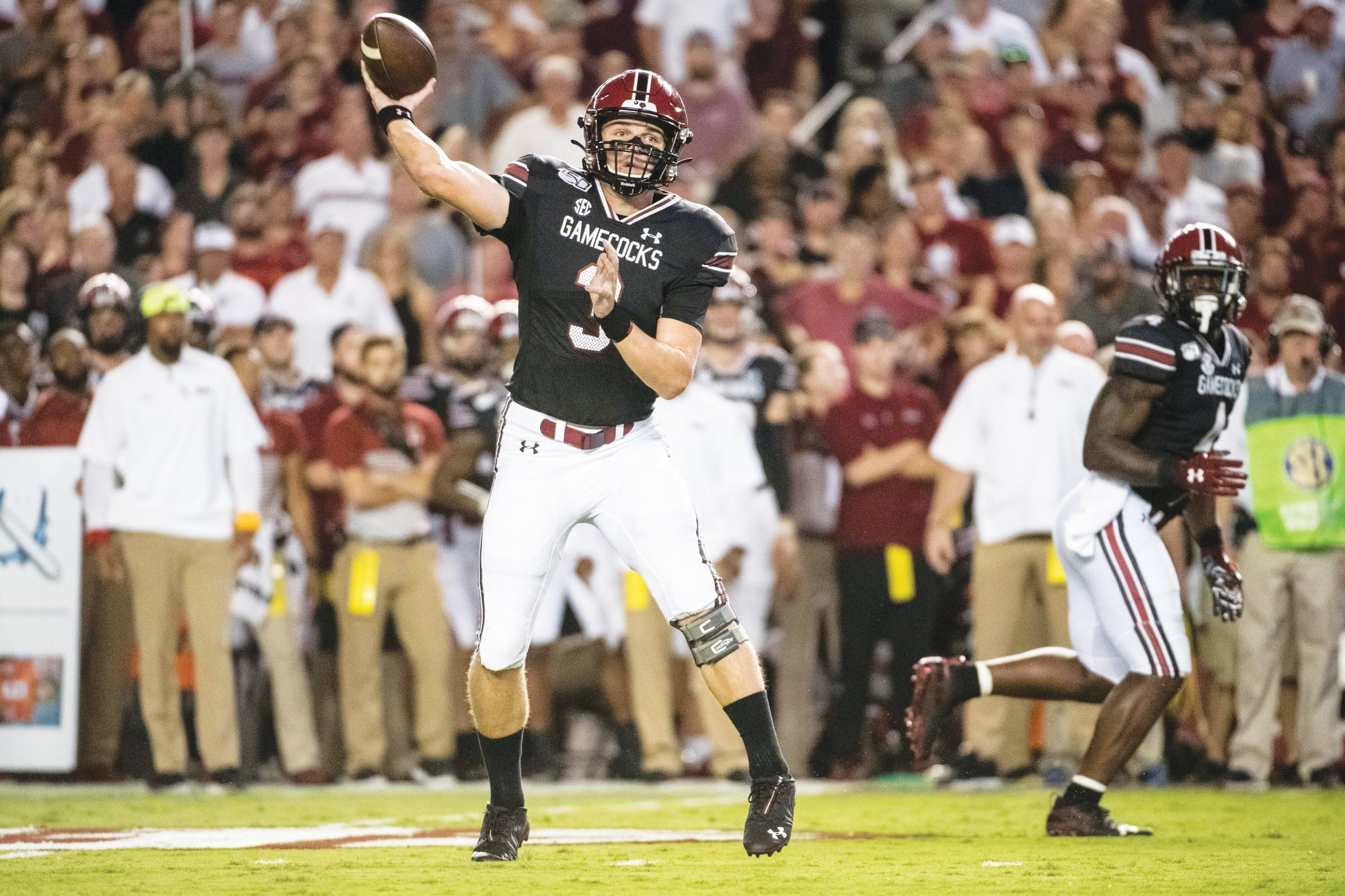 South Carolina quarterback Ryan Hilinski (3) and the Gamecocks will look to upset No. 3 Georgia on the road on Saturday.