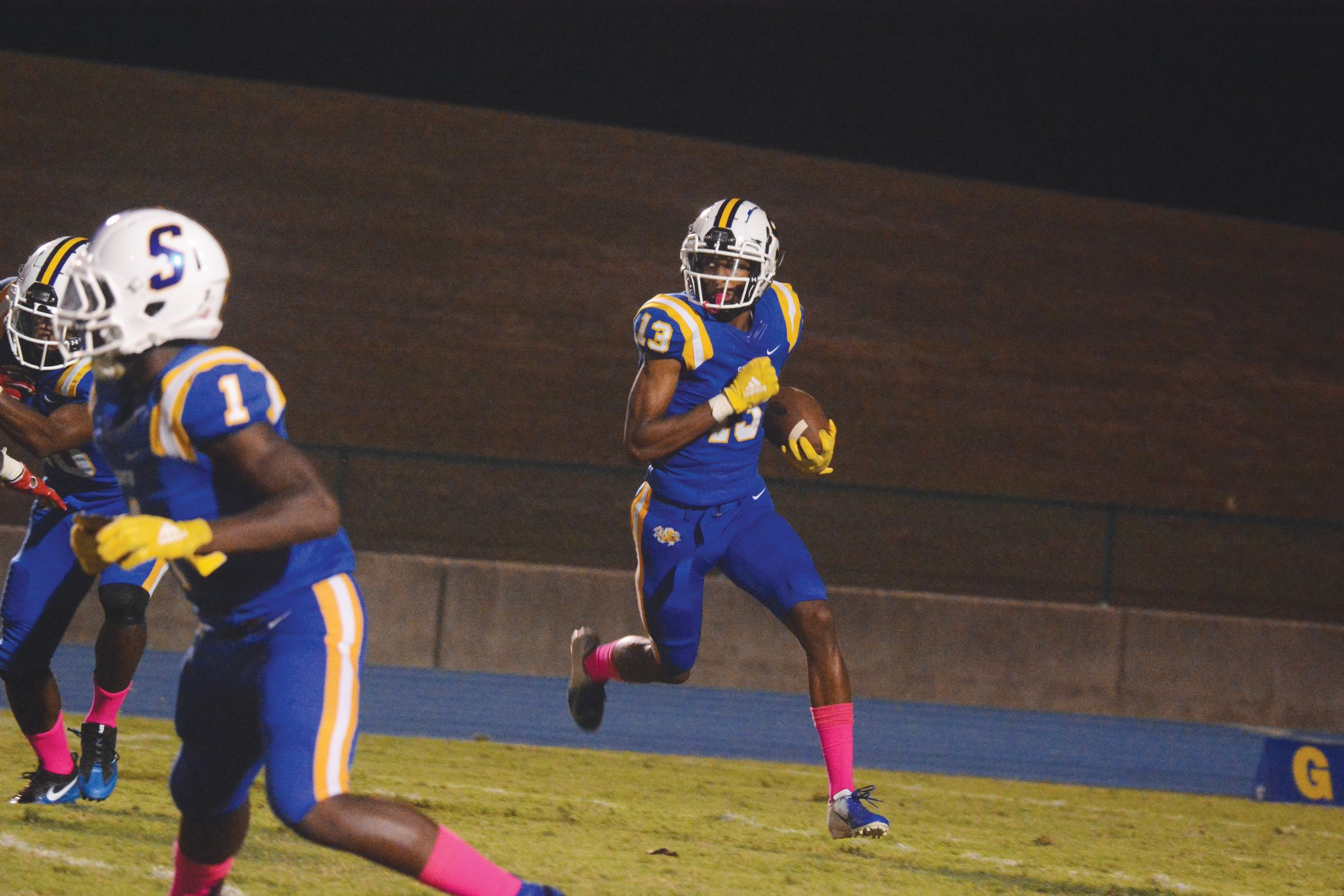 Sumter wide out Tylee Craft (13) and the Gamecocks maintained their fifth place ranking in the SCHSL 5A S.C. Prep Media Football Poll this week.