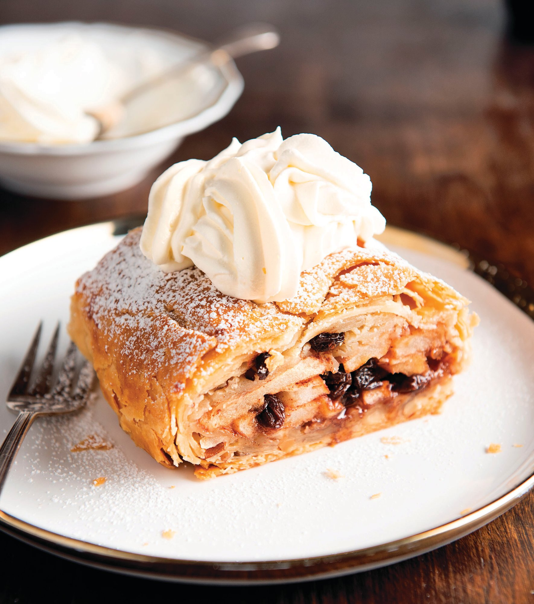 "Seen is a strudel inspired by the film ""Inglourious Basterds"" from the cookbook ""Binging with Babish: 100 Recipes Recreated from Your Favorite Movies and TV Shows"" by Andrew Rea."