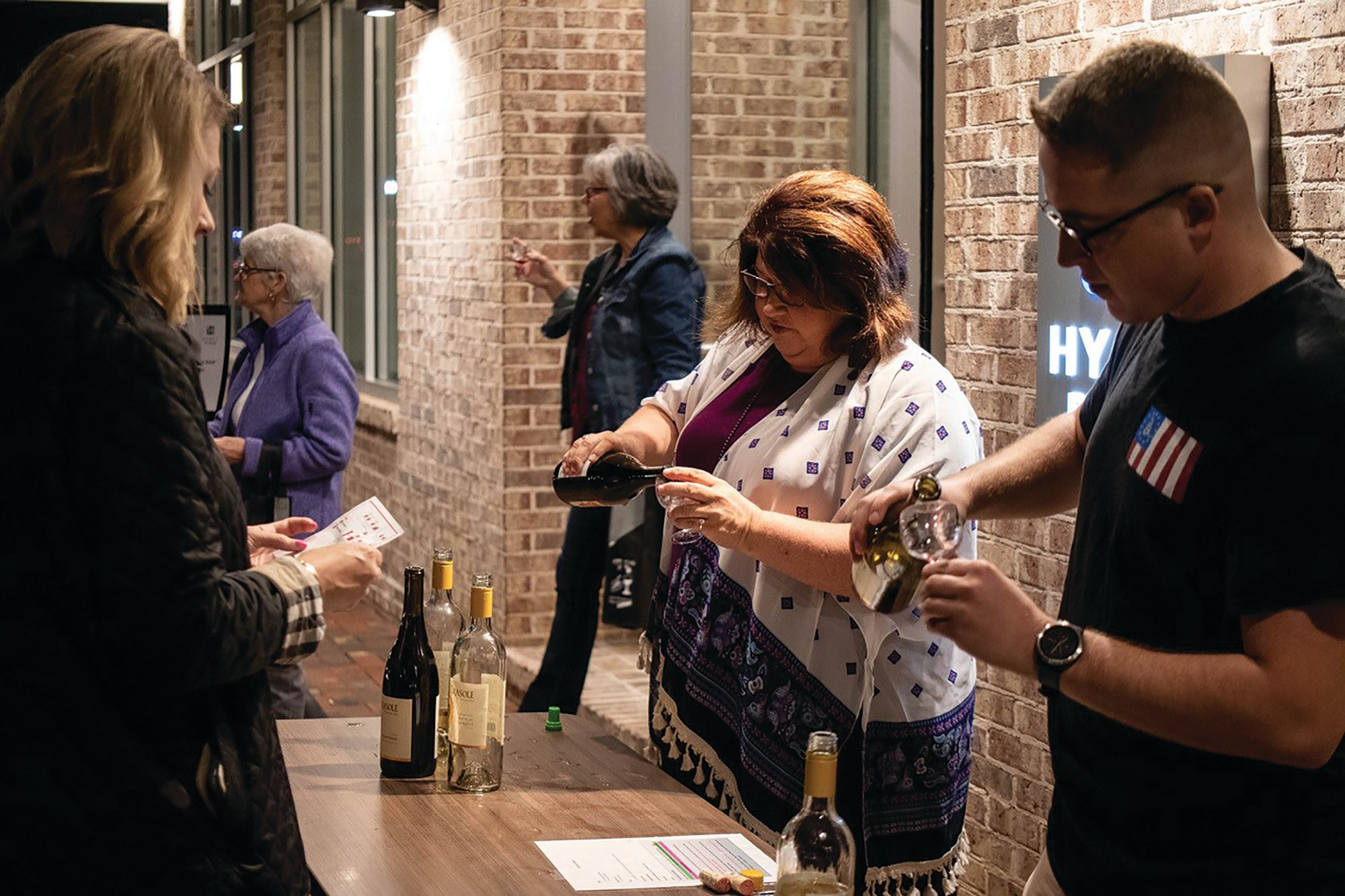 Guests at the 2018 Sip and Scream fundraiser for Sumter Senior Services could taste more than two dozen wines at downtown venues, including Hyatt Place Hotel, seen in this photo.