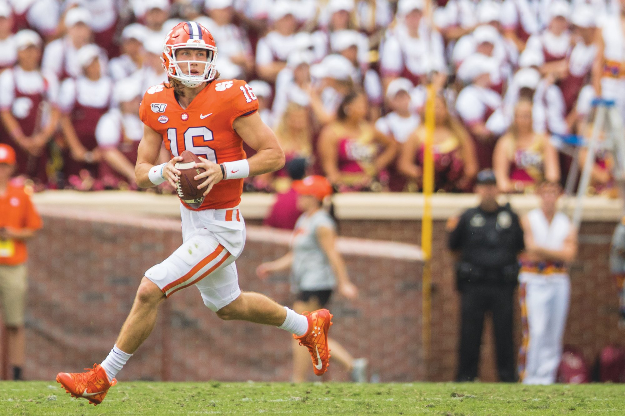 Quarterback Trevor Lawrence and the Clemson Tigers continue to fall in The Associated Press Top 25 poll despite still being undefeated. Clemson was ranked No. 1 but has dropped one spot in each of the last three weeks.