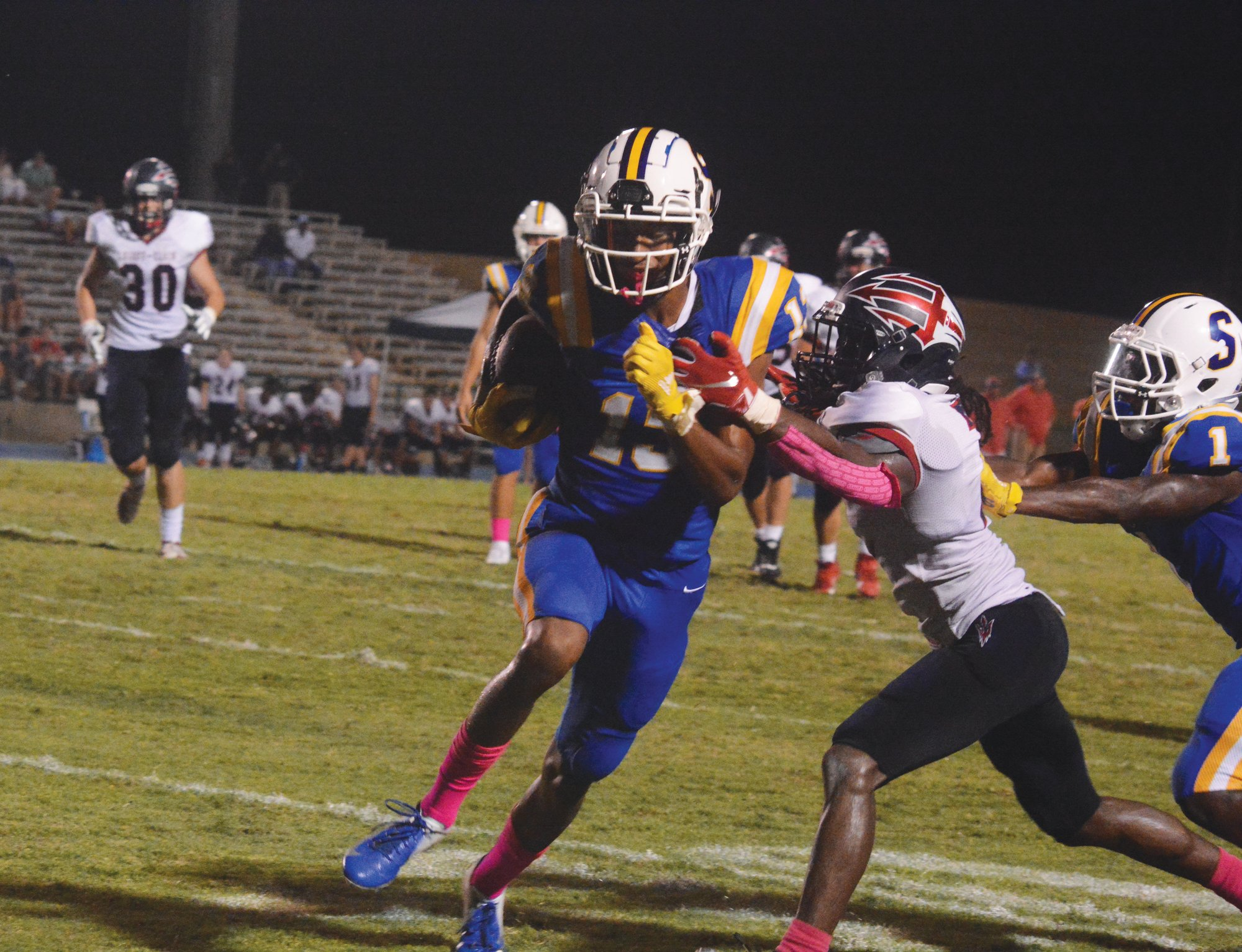 Sumter wide receiver Tylee Craft (13) and the Gamecocks maintained their fifth-place ranking in 5A in the S.C. Prep Media Football Poll this week.