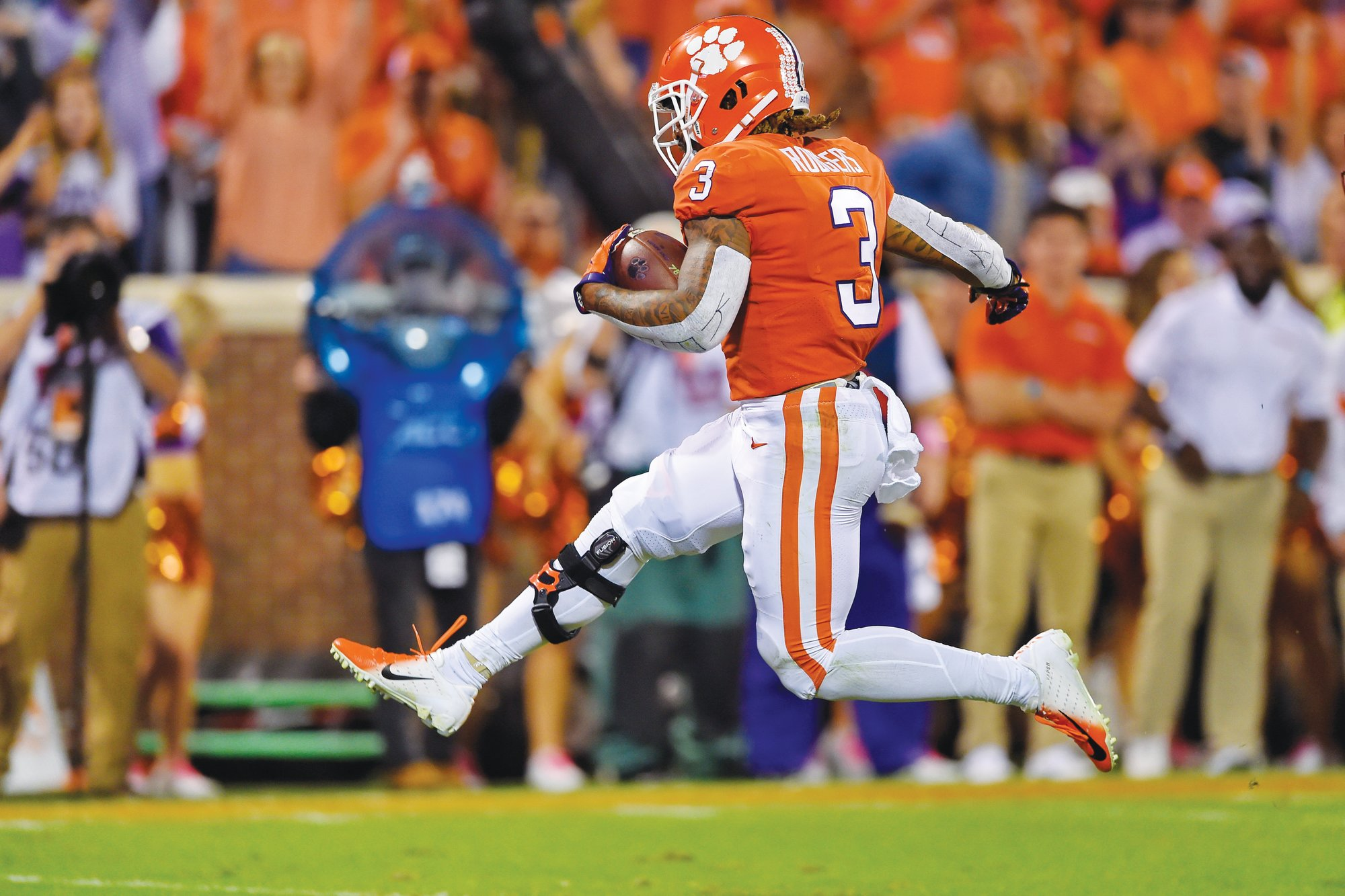 Clemson wide receiver Amari Rodgers runs into the end zone for a touchdown during the Tigers' 59-7 win over Boston College last week. Clemson plays host to Wofford on Saturday.