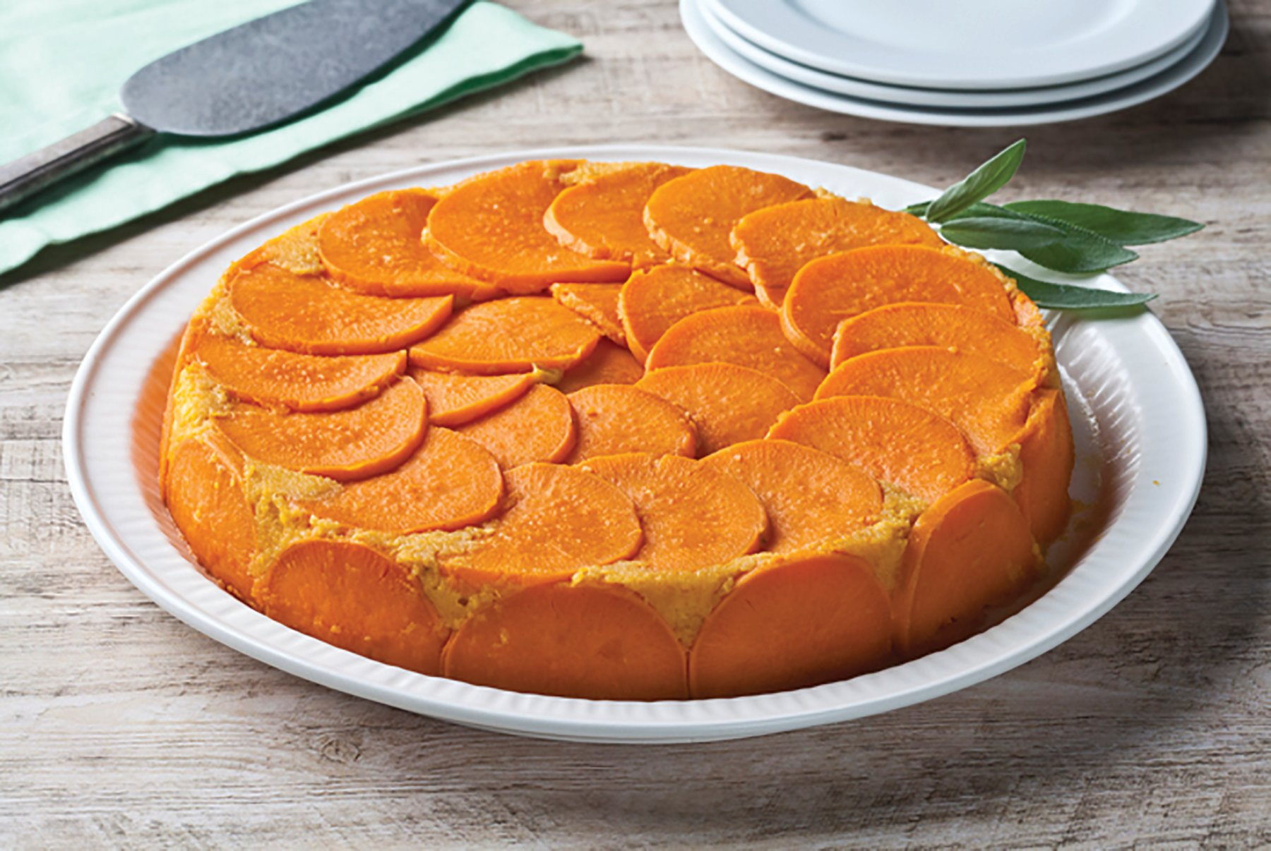 UPSIDE DOWN SWEET POTATO BAKE