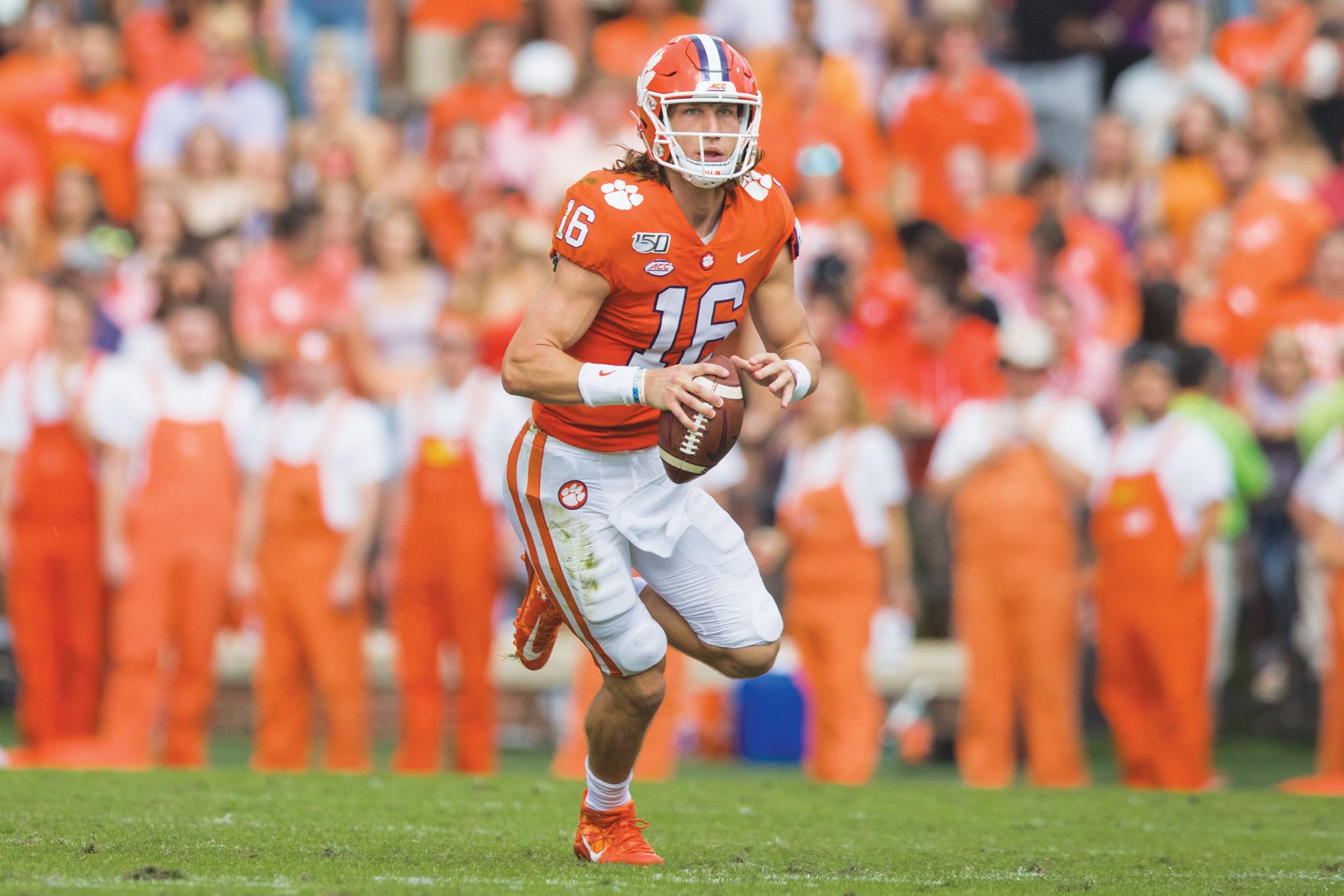 Clemson quarterback Trevor Lawrence and the defending national  champion Tigers are ranked fifth the first College Football Playoff standings released on Tuesday.