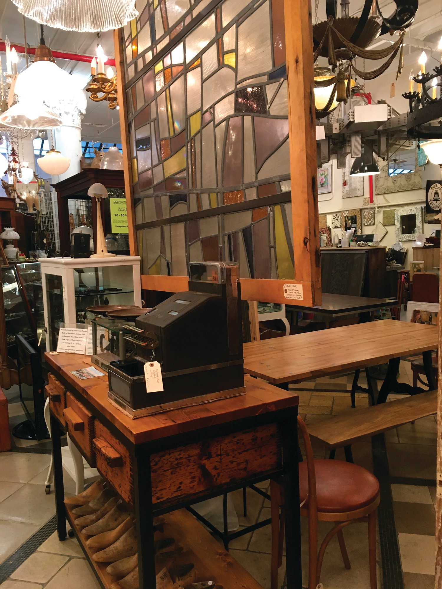 Seen are various salvaged items for sale at Olde Good Things salvage store in New York. Two of the hottest trends in home decor are sustainability and authenticity.