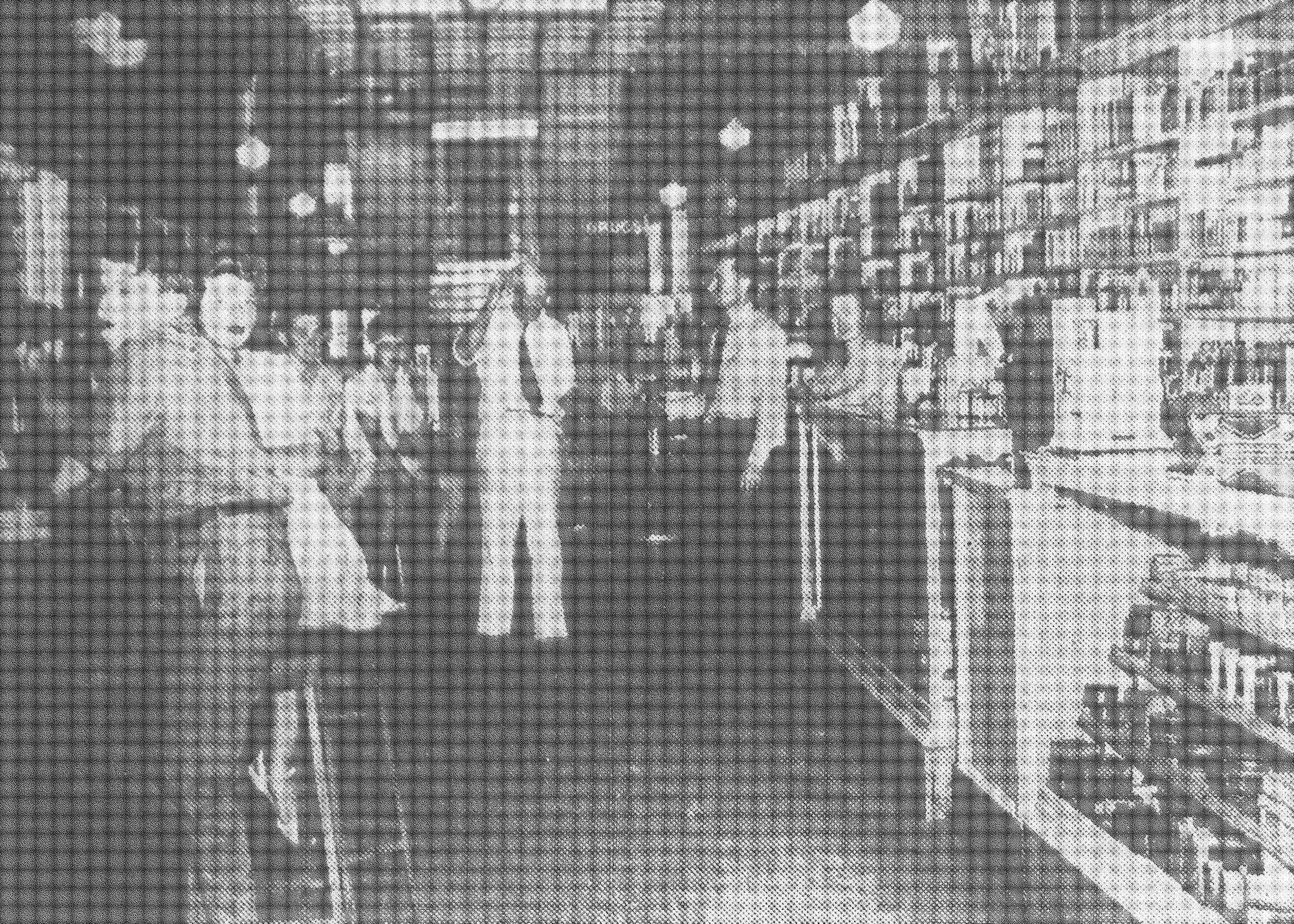 RIGHT: Patrons shop at Rowes Drug Store in June 1945.