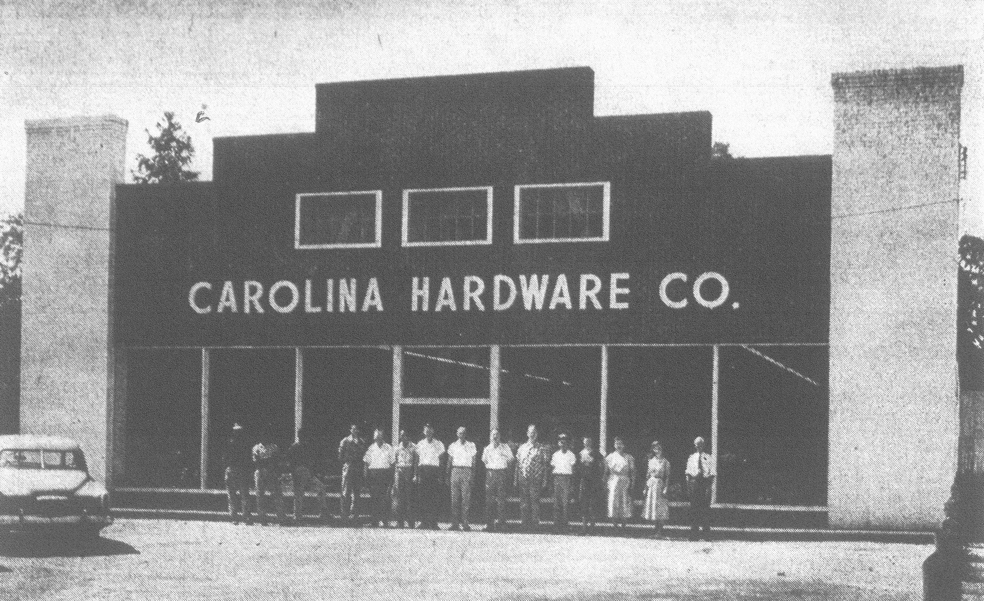 MIDDLE: The Carolina Hardware Co. employees stand outside the building in July 1954.