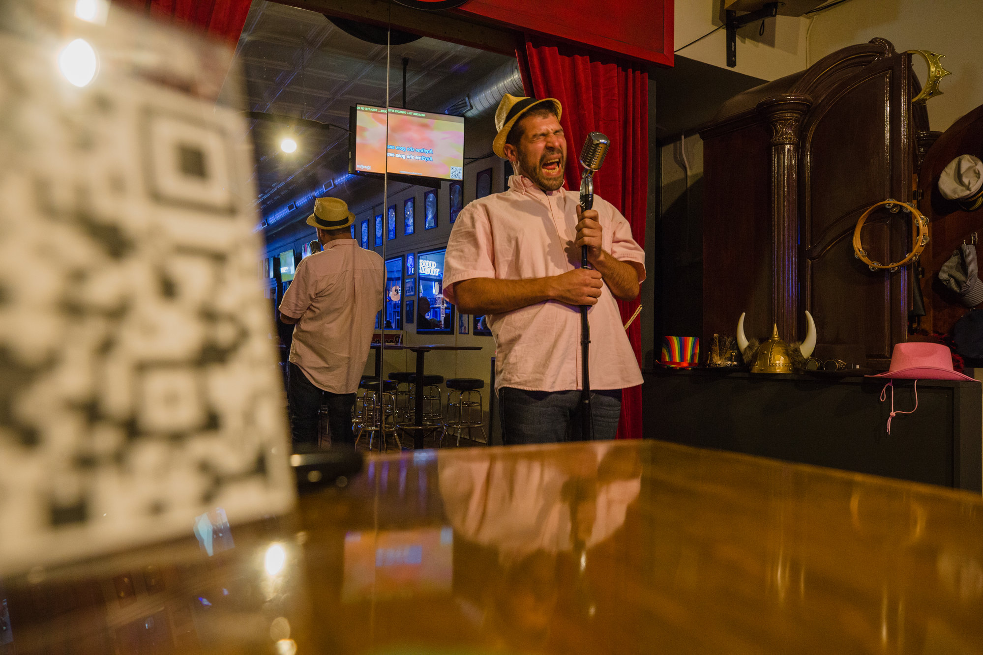 Joe Jeffcoat performs Thursday night at the new after-hours karaoke bar next door to J. O'Grady's in downtown Sumter.