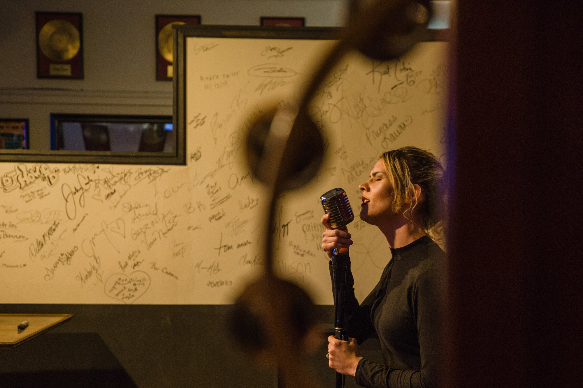Kimberly Henderson sings at J. O'Grady's After Hours karaoke bar on Thursday night.