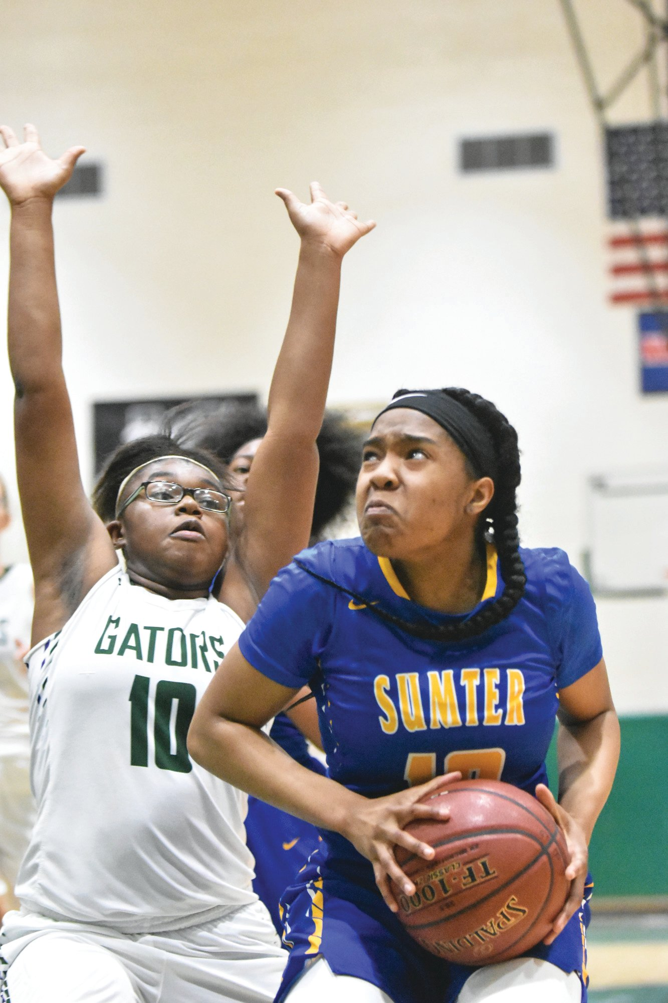 Lakewood's Treasure Smalls, left, is one of the few experienced players returning for the Lady Gators this season.
