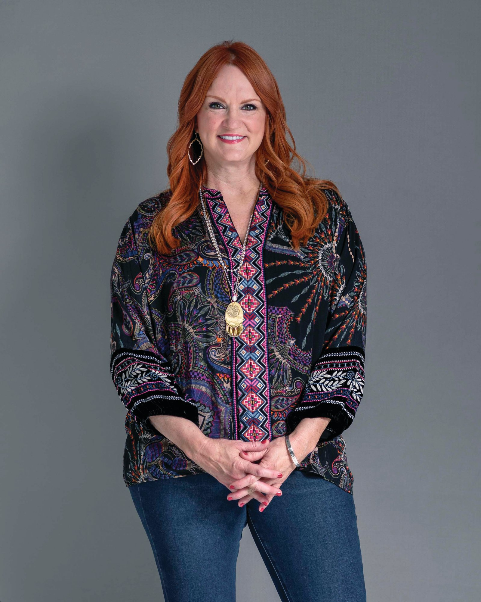 "TV personality Ree Drummond posing for a portrait to promote her new cookbook ""The Pioneer Woman Cooks: The New Frontier: 112 Fantastic Favorites for Everyday Eating."""