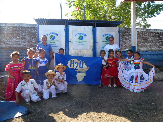 PHOTO PROVIDEDStudents appear outside a similar school in Nicaragua that recently had latrines built.