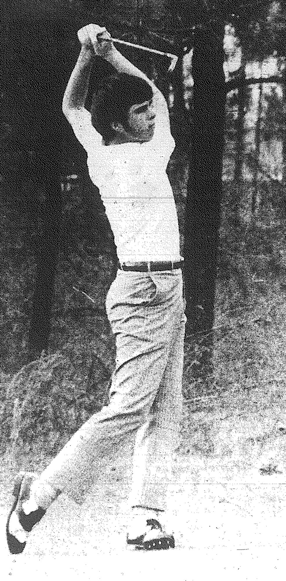 1970 - Bob Reardon of Edmunds High School gets off a drive in a match against Eau Claire at Sunset Country Club on March 23. Reardon shot a 77 while Steve Broome and Cary Stoffel took medalist honors with 73s. Edmunds won, 307-342.