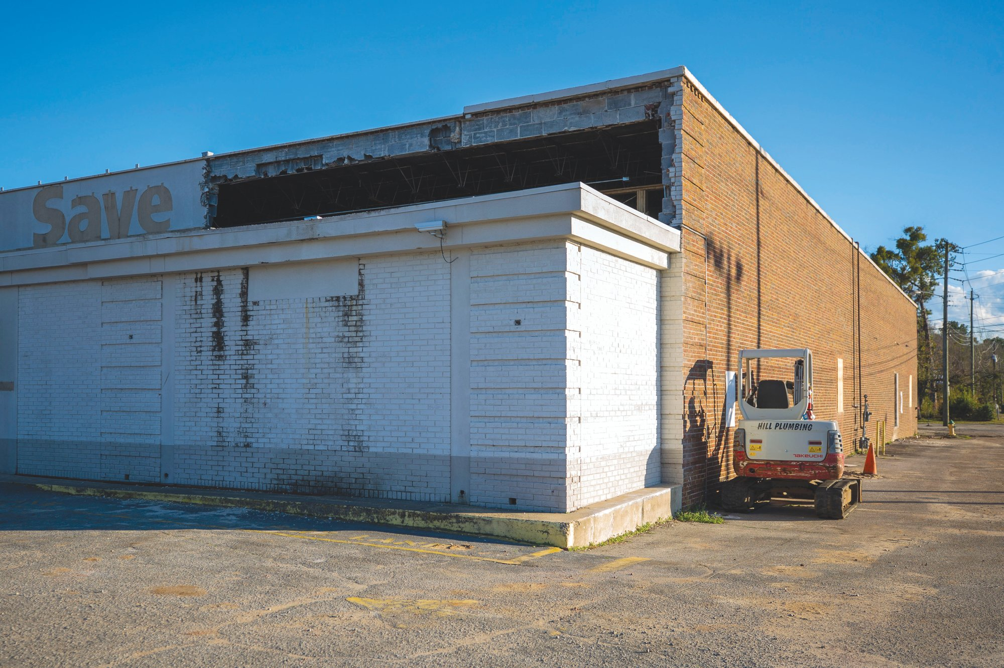 The construction renovation project in the former Save-A-Lot discount supermarket began last month.