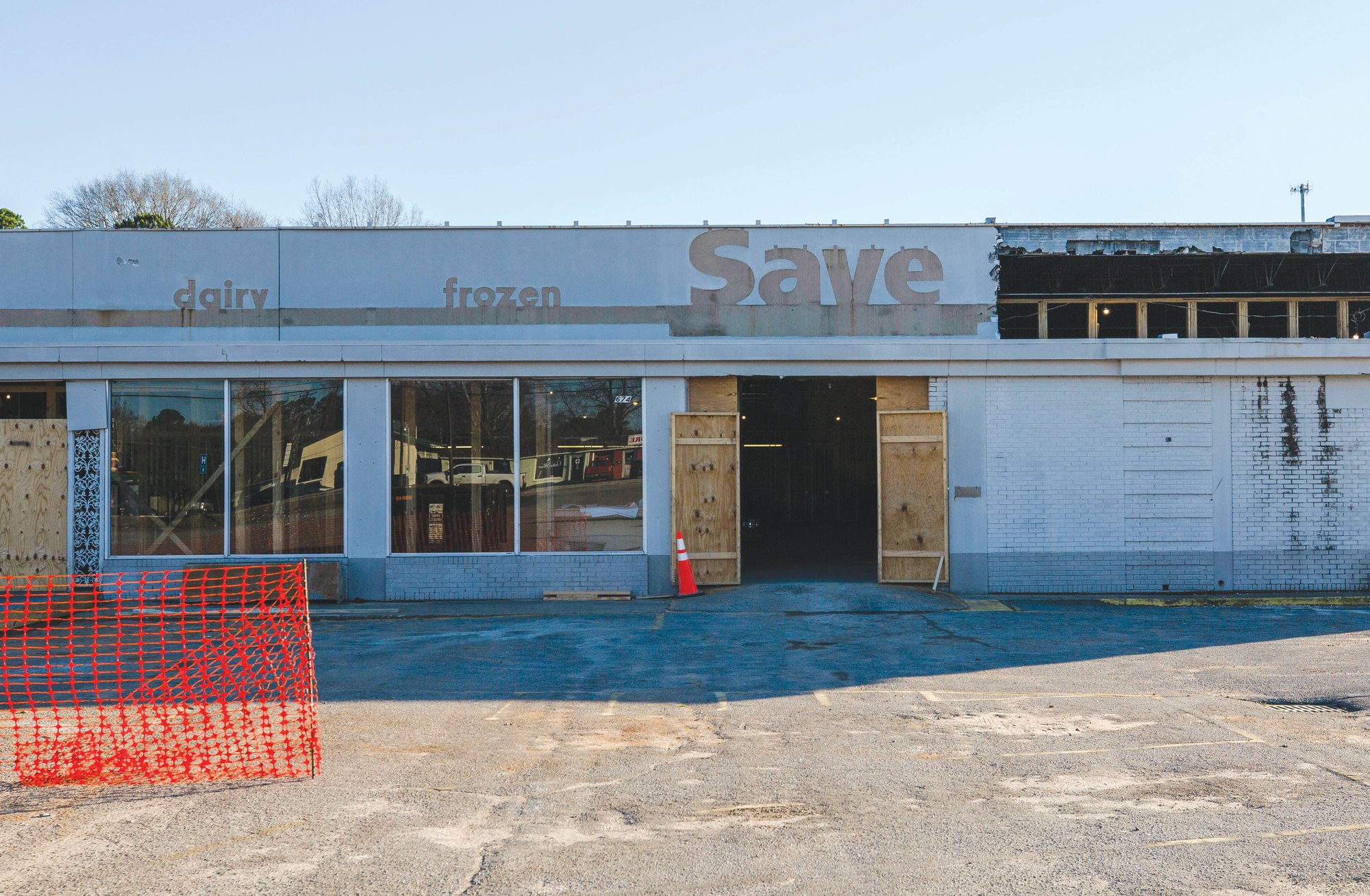 The construction renovation project in the former Save-A-Lot discount supermarket began last month. It will become a new medical facility for Colonial Healthcare with 70 employees.