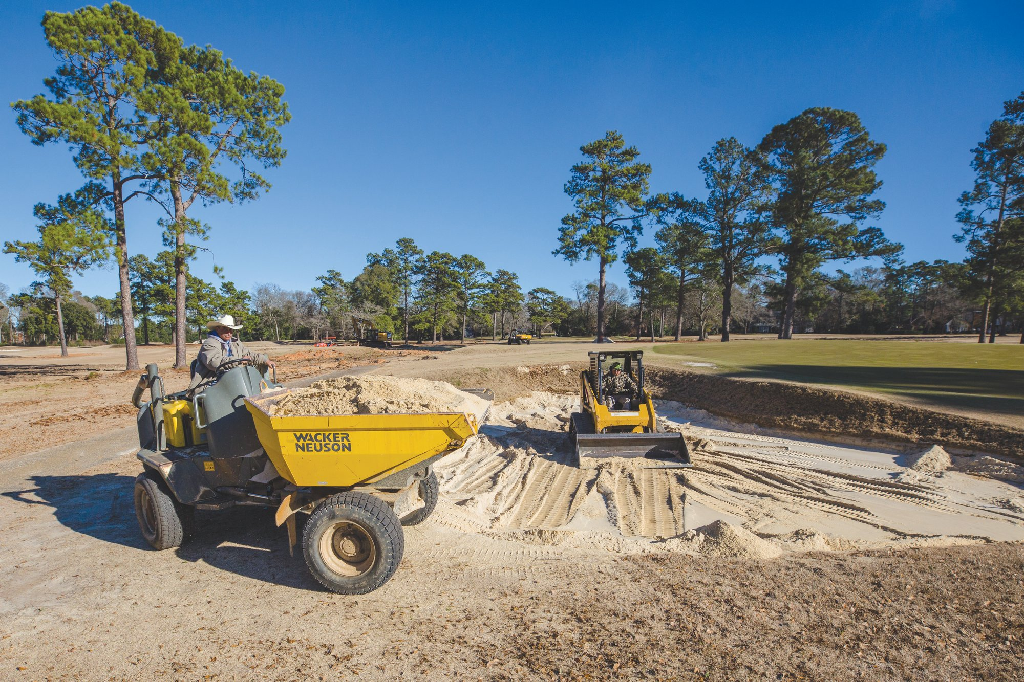 The golf course at what was Sunset Country Club is under construction. Greg Thompson and his brother, Lewis Thompson, bought the property last year and have renamed it Quixote Club. It could open by the end of this year after a renovation.