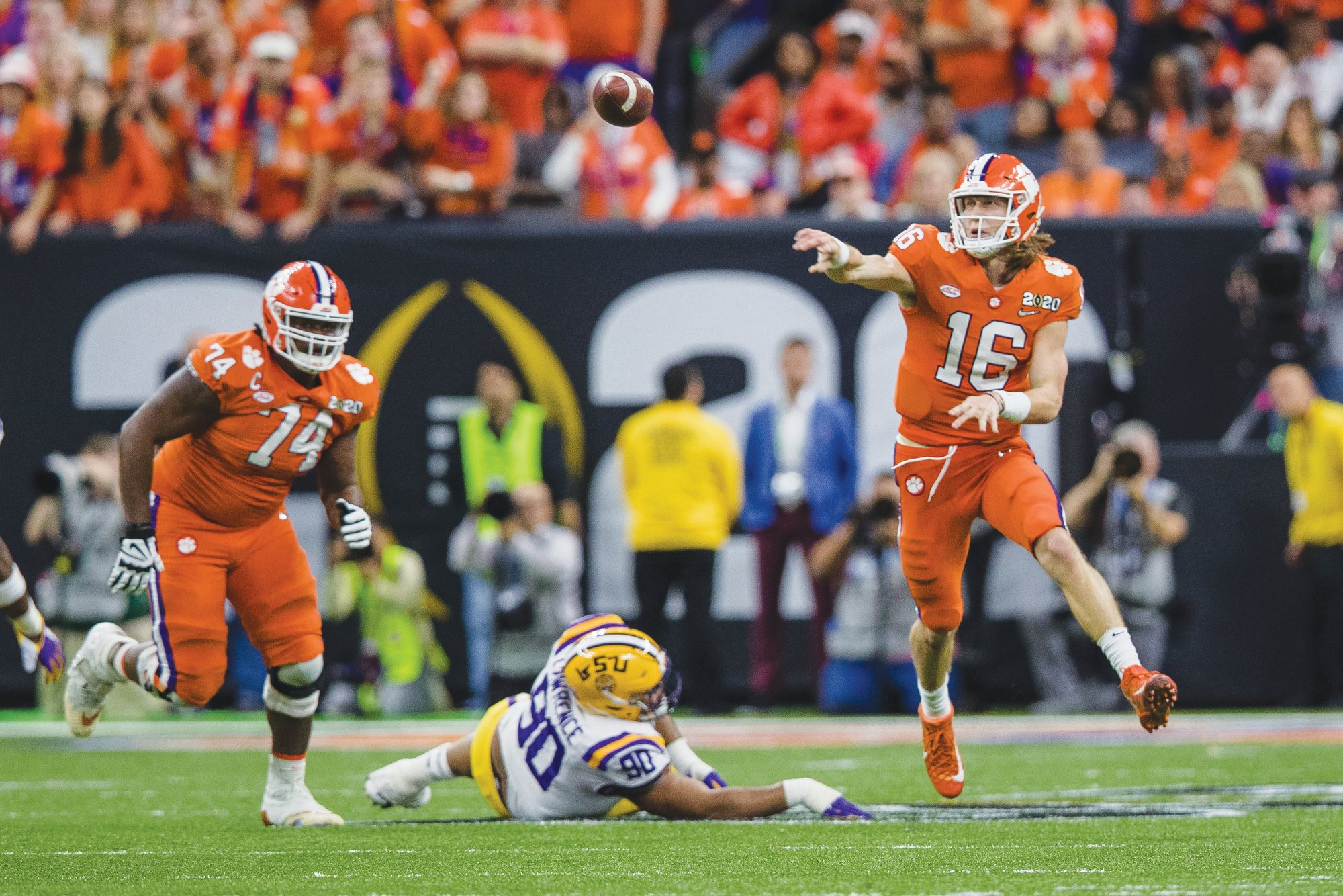 Clemson quarterback Trevor Lawrence (16) will return next season, looking to lead the Tigers to a third straight national championship game.