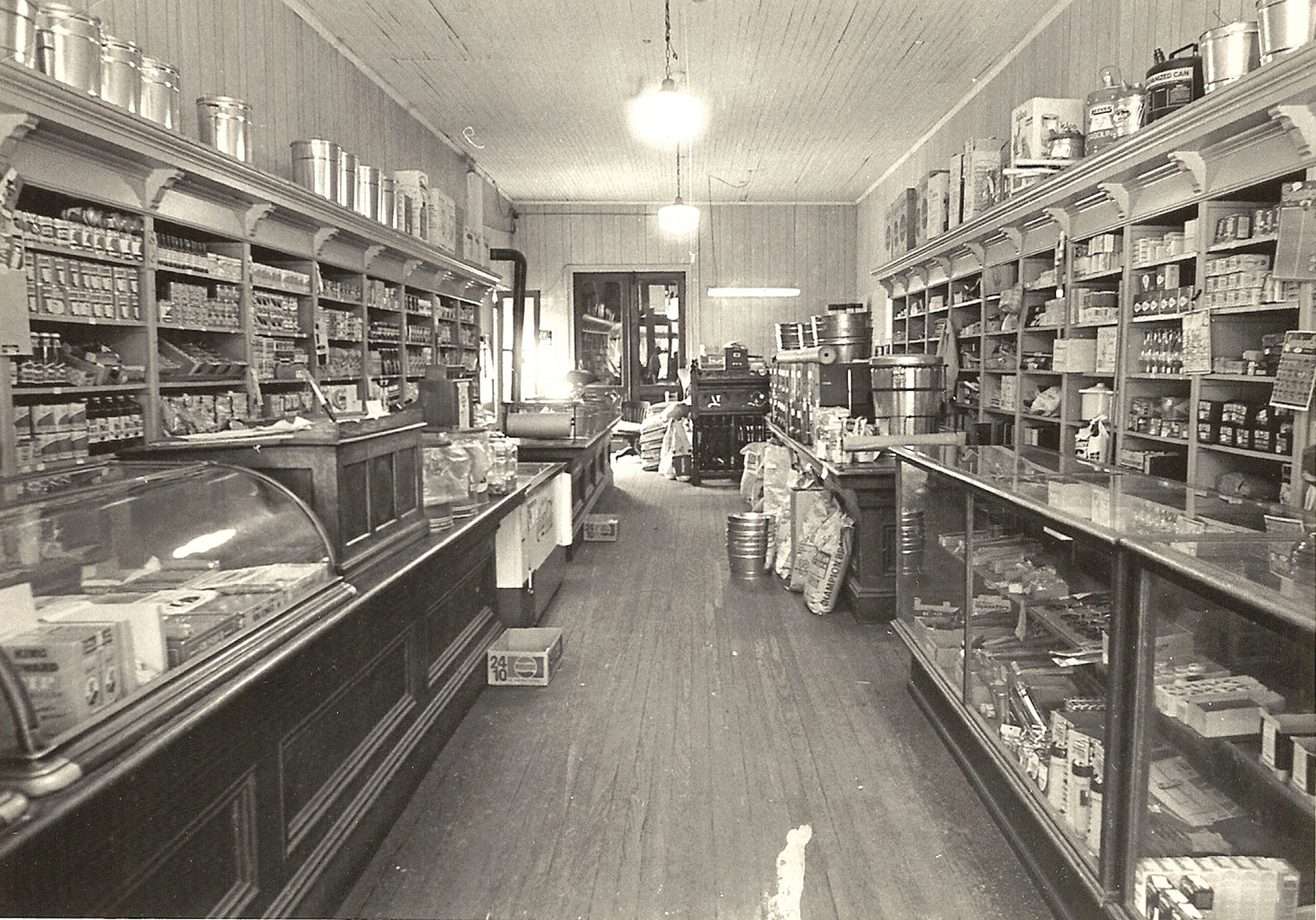 The interior of Barnett's Store is seen.