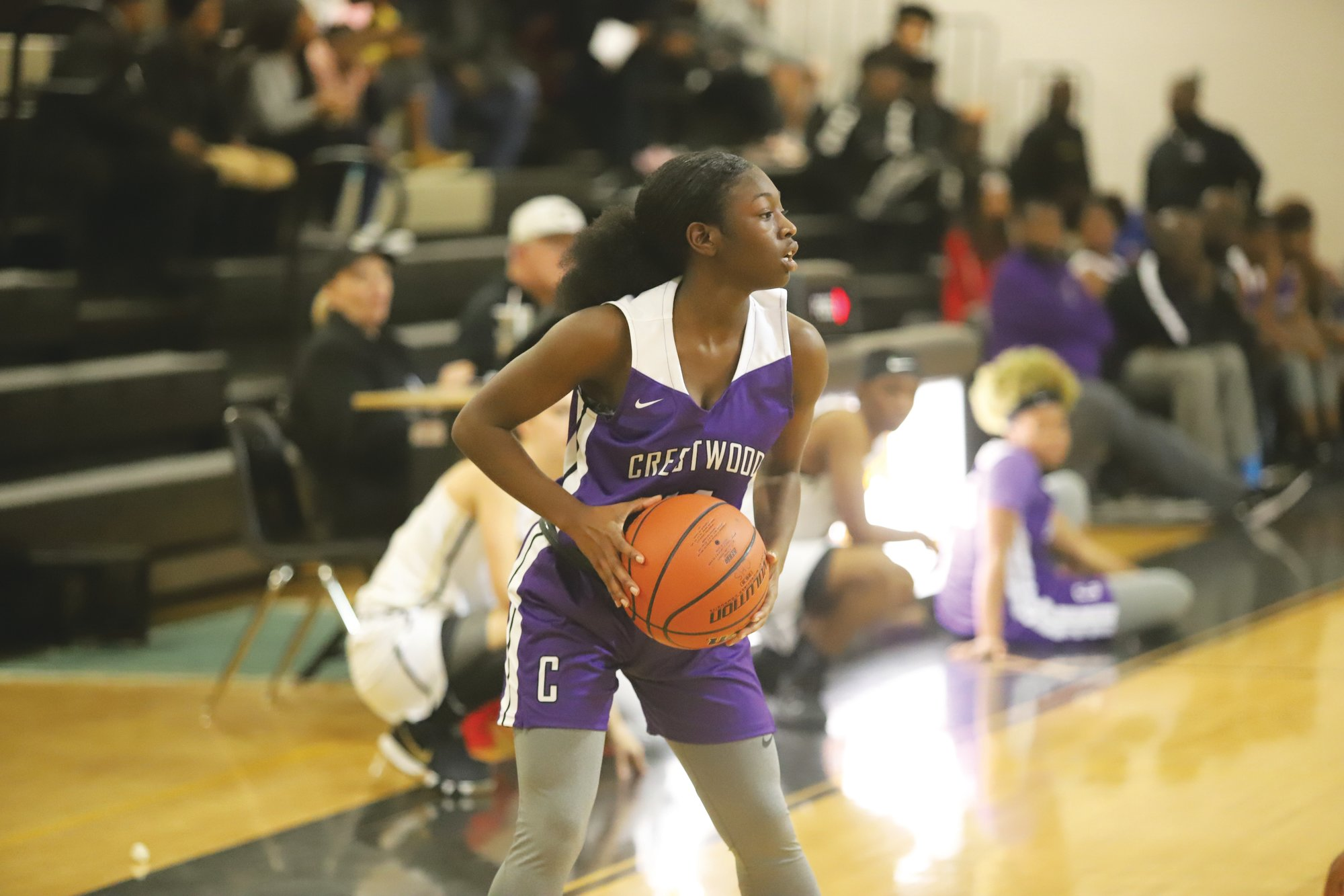 Crestwood guard Shania Davis led the Lady Knights with 12 points in their 44-40 loss to Orangeburg-Wilkinson on Tuesday at The Castle.